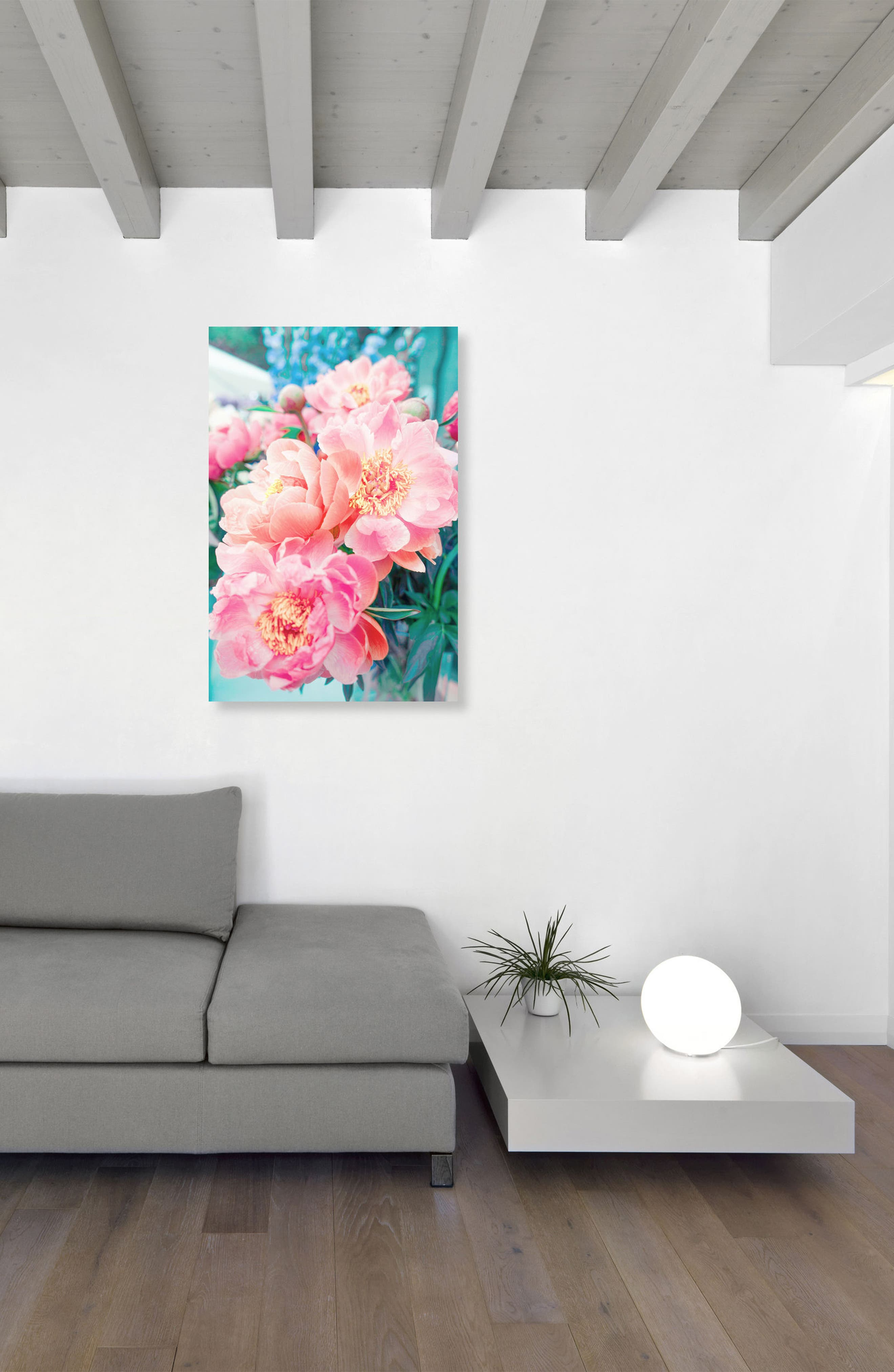 Open Peonies Canvas Wall Art,                             Alternate thumbnail 2, color,