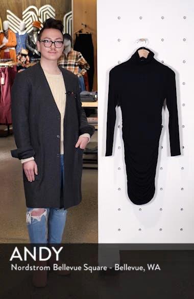 Side Ruched Turtleneck Dress, sales video thumbnail