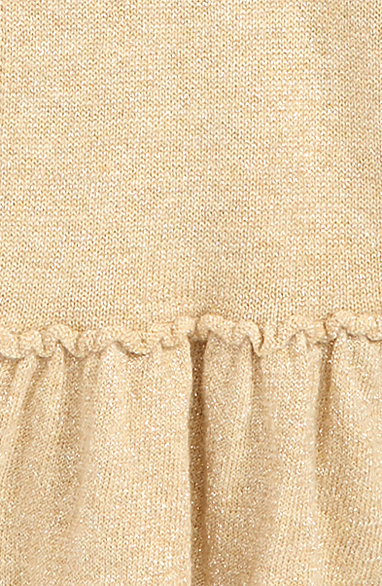 Langley Bell Sleeve Sweater,                             Alternate thumbnail 2, color,                             GOLD METALLIC
