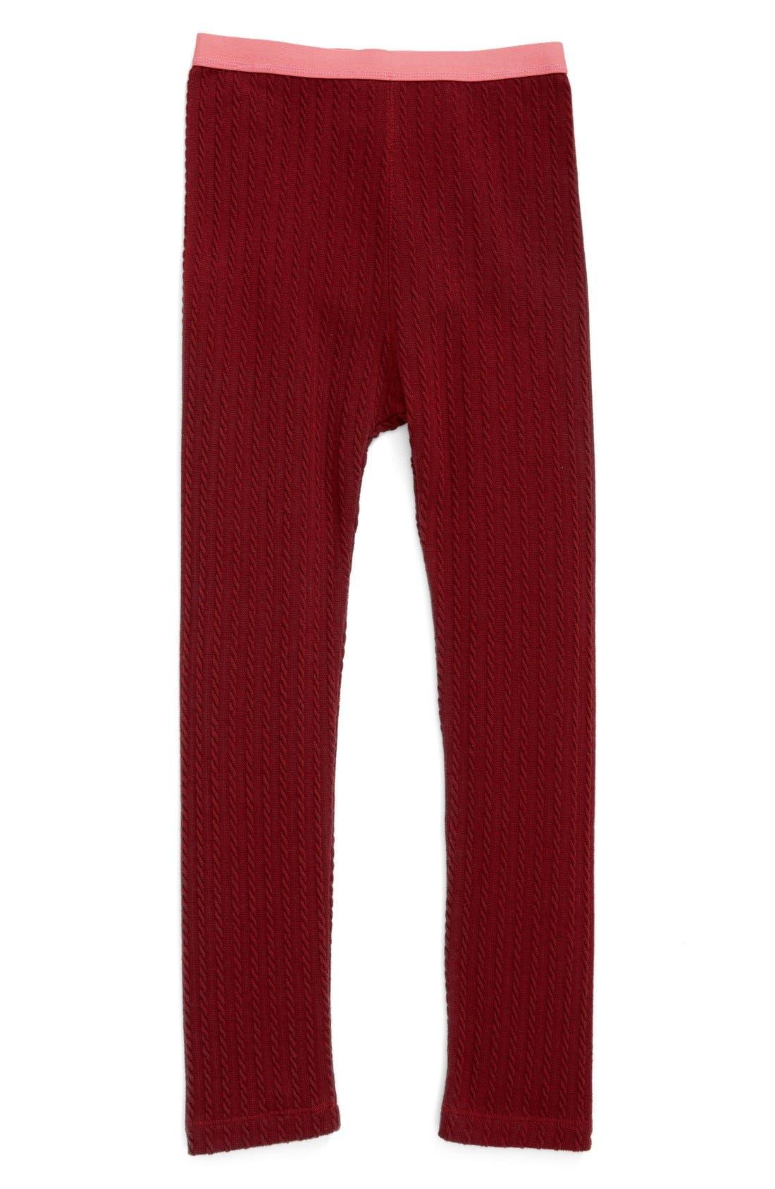Cable Knit Leggings,                             Main thumbnail 4, color,