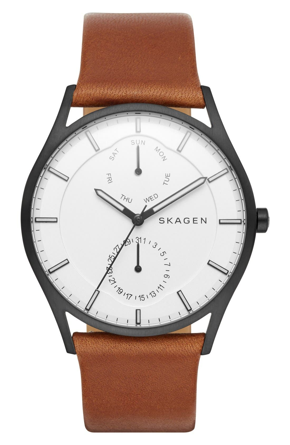 'Holst' Multifunction Leather Strap Watch, 40mm,                             Main thumbnail 7, color,