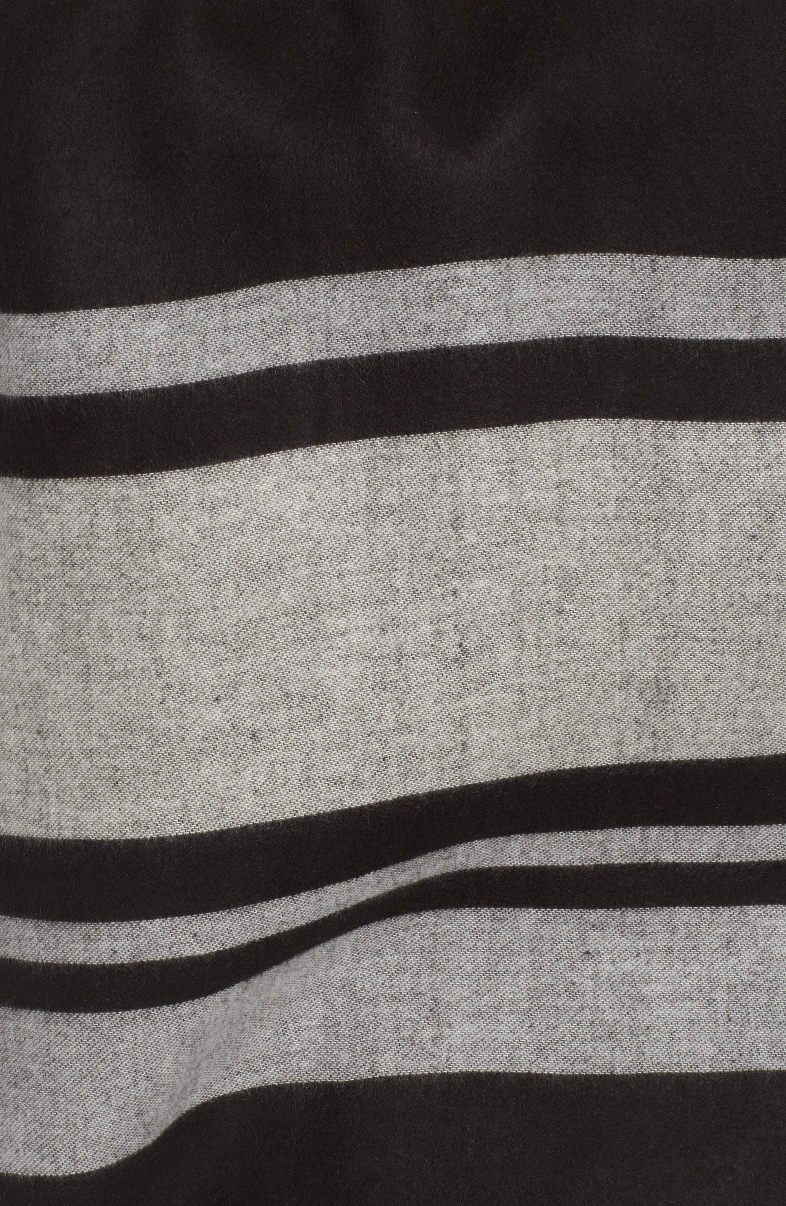 Stairway Stripe Blanket Cape,                             Alternate thumbnail 5, color,                             001
