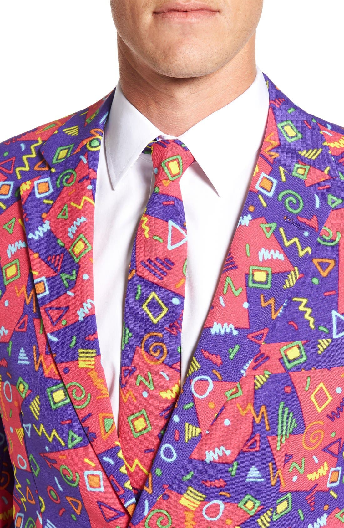 'The Fresh Prince' Trim Fit Two-Piece Suit with Tie,                             Alternate thumbnail 4, color,