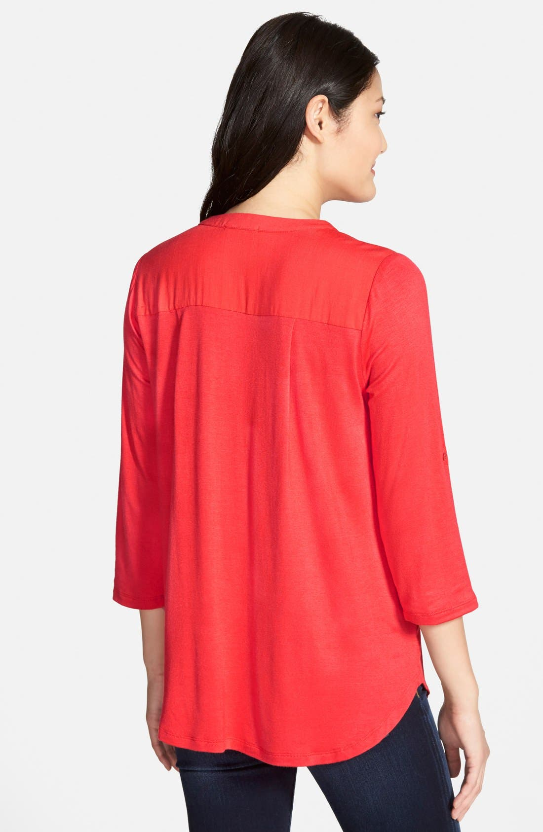 Mixed Media V-Neck Tunic,                             Alternate thumbnail 165, color,