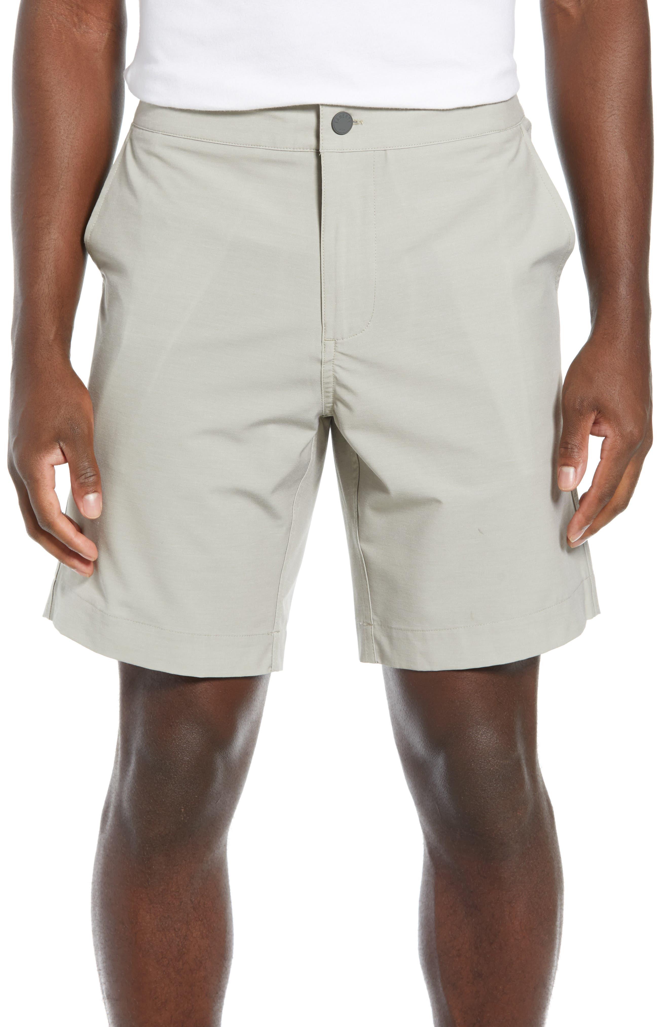 FAHERTY All Day Flat Front Shorts, Main, color, KHAKI
