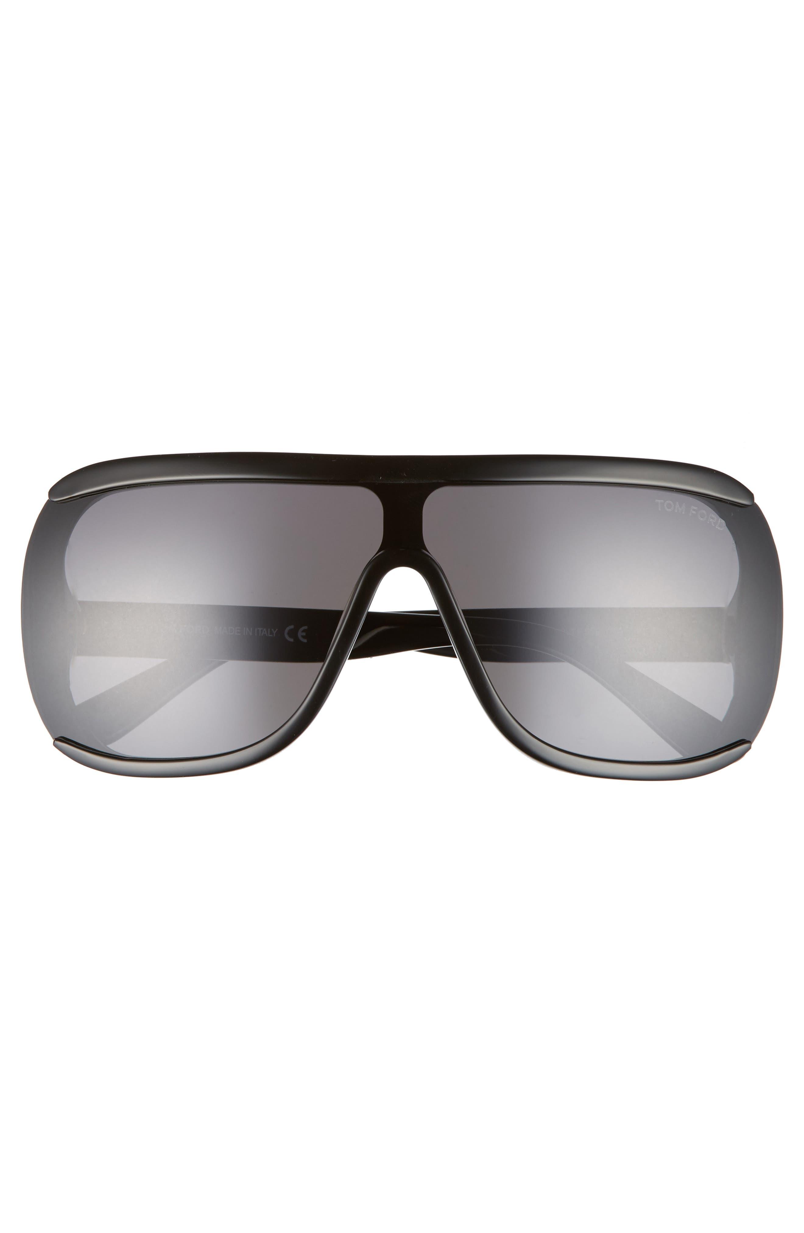 TOM FORD,                             Porfirio 65mm One-Piece Lens Shield Sunglasses,                             Alternate thumbnail 3, color,                             001