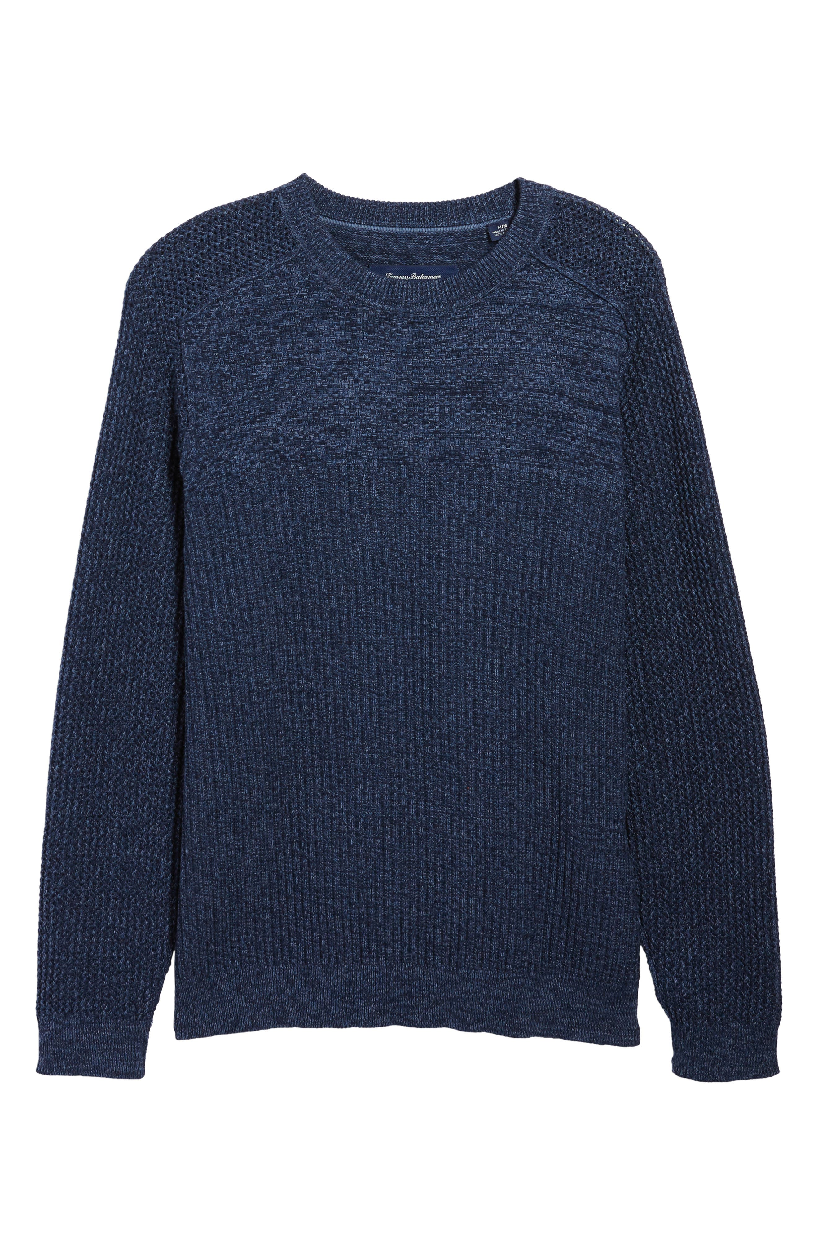 Medina Marl Cotton Sweater,                             Alternate thumbnail 6, color,                             001