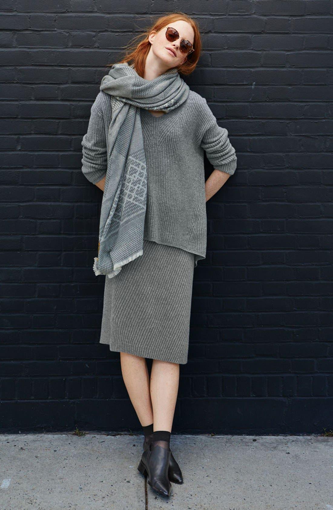 Rib Knit Sweater Skirt,                             Alternate thumbnail 6, color,                             030