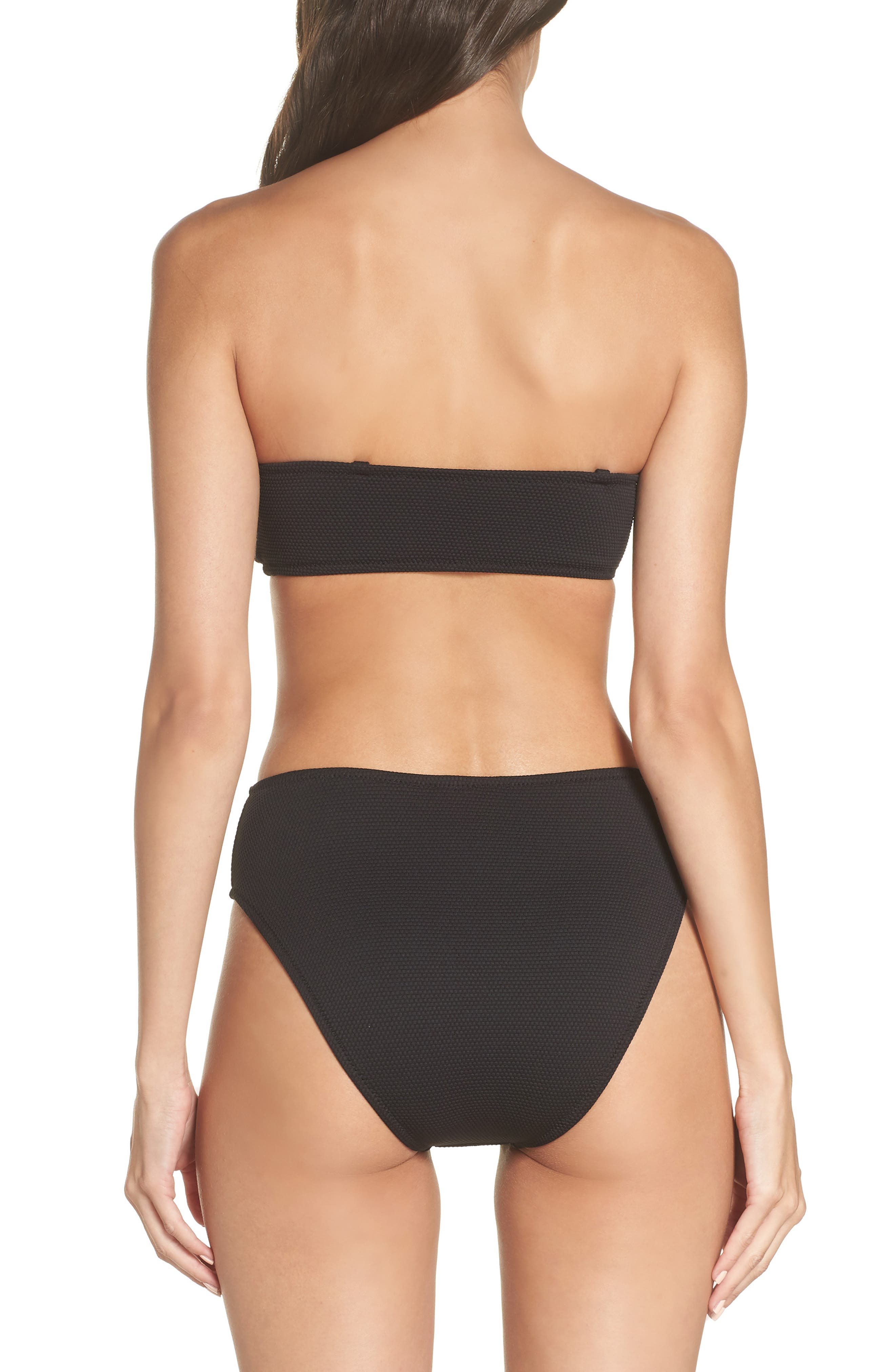 Convertible Bikini Top,                             Alternate thumbnail 9, color,                             BLACK