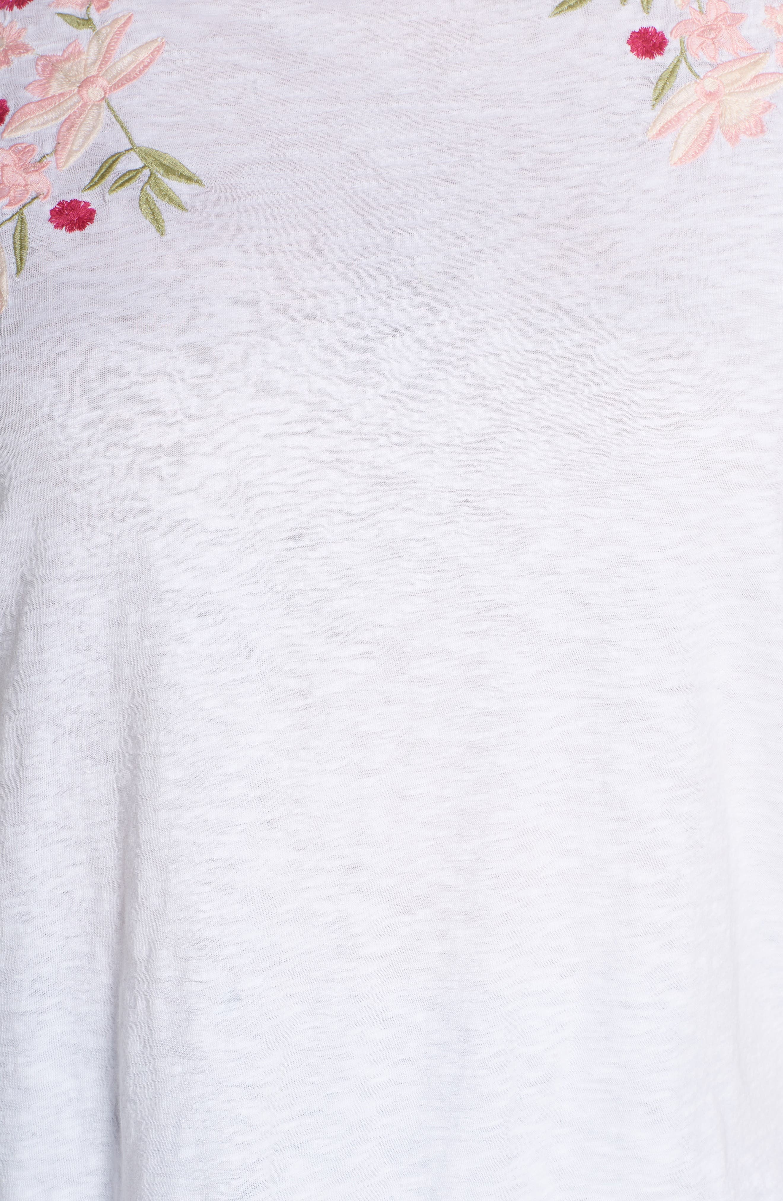 Embroidered Tee,                             Alternate thumbnail 6, color,                             101