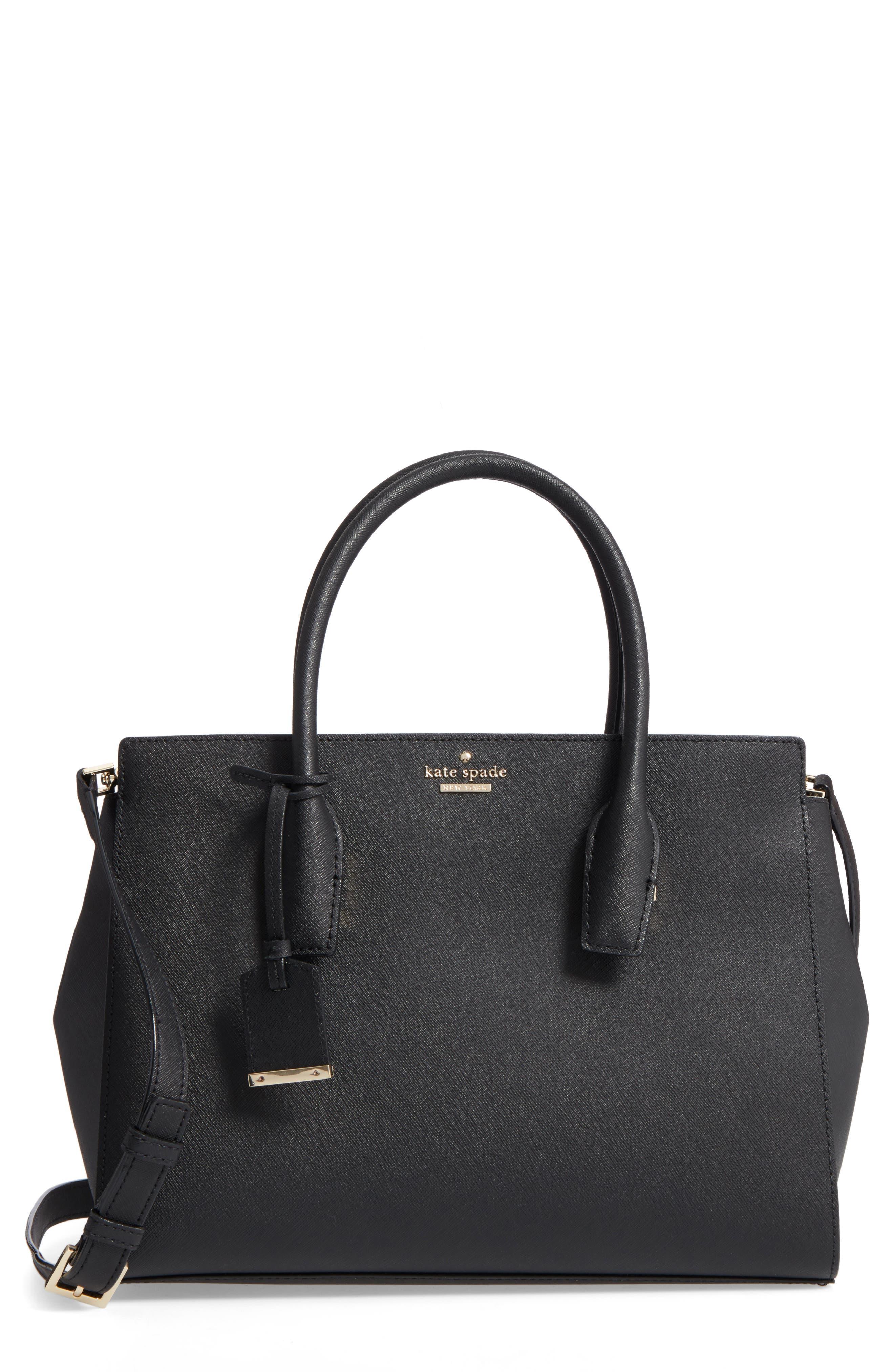 make it mine - candace leather satchel,                             Main thumbnail 1, color,                             001