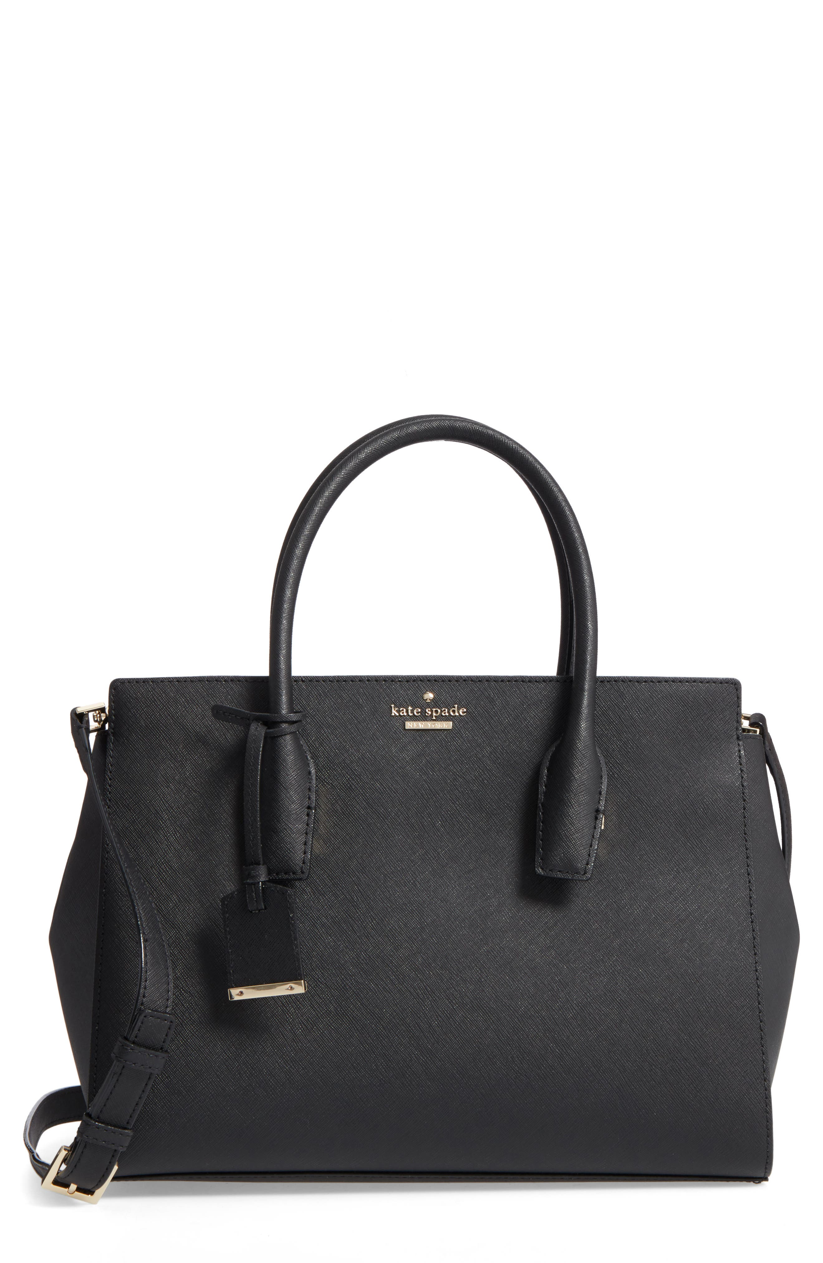 make it mine - candace leather satchel,                         Main,                         color, 001