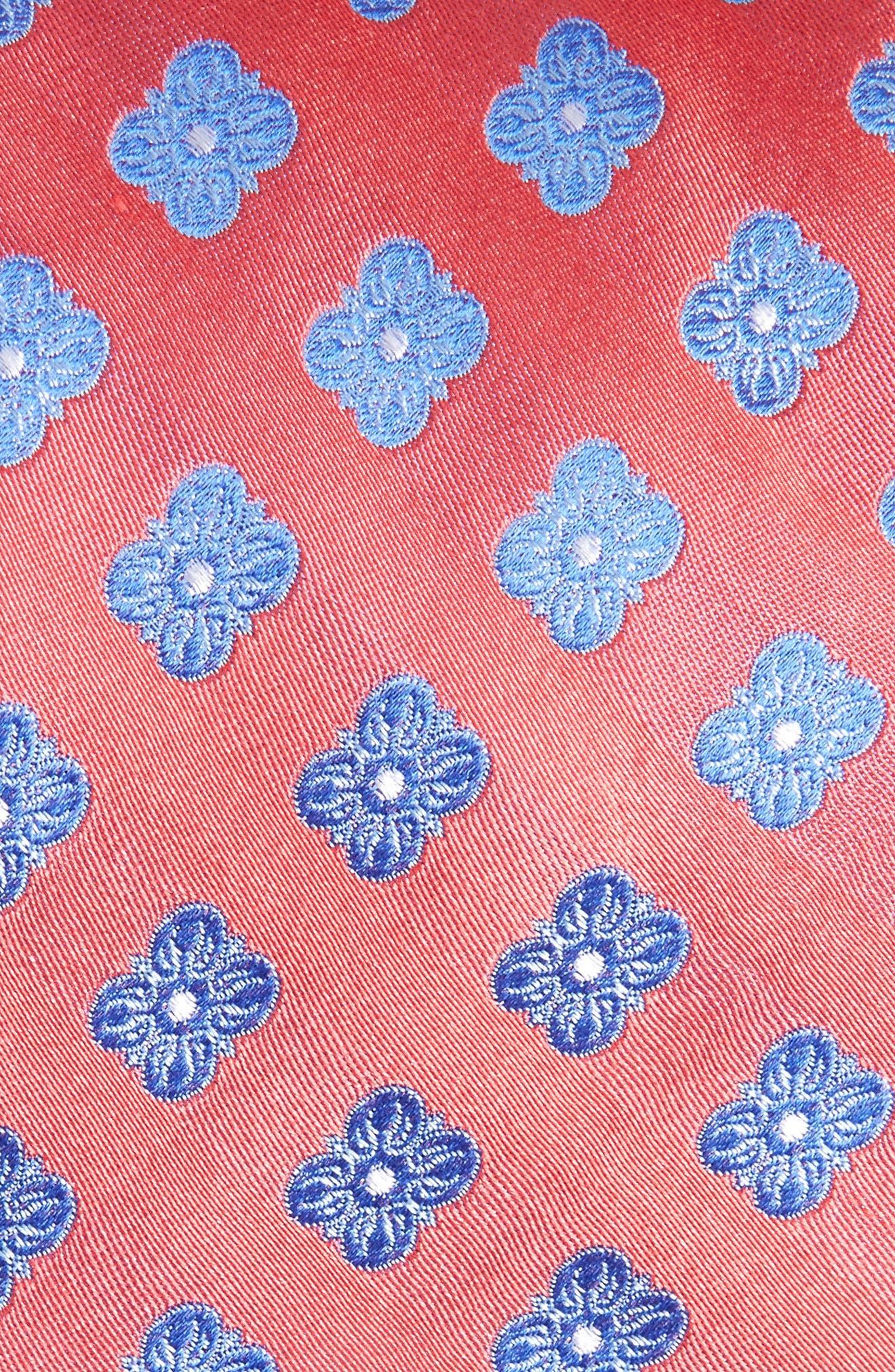 Cameron Floral Medallion Silk Tie,                             Alternate thumbnail 2, color,                             610