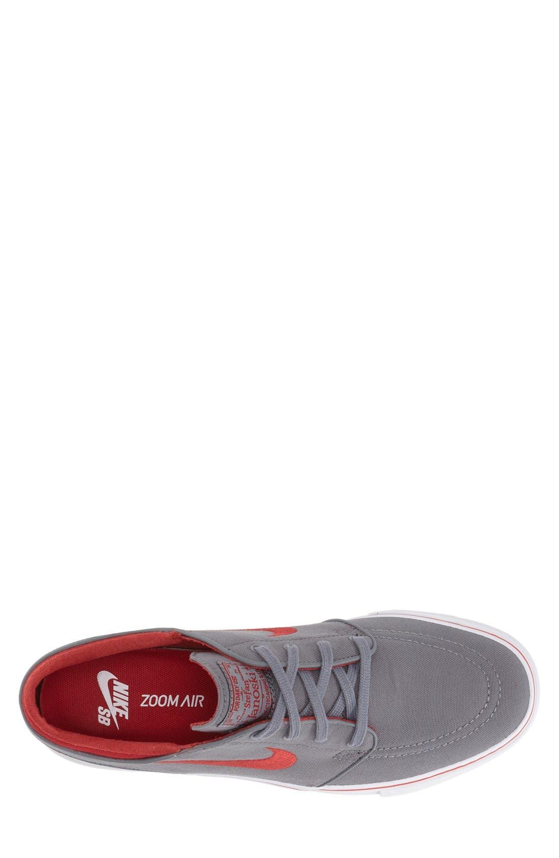 Zoom - Stefan Janoski SB Canvas Skate Shoe,                             Alternate thumbnail 105, color,
