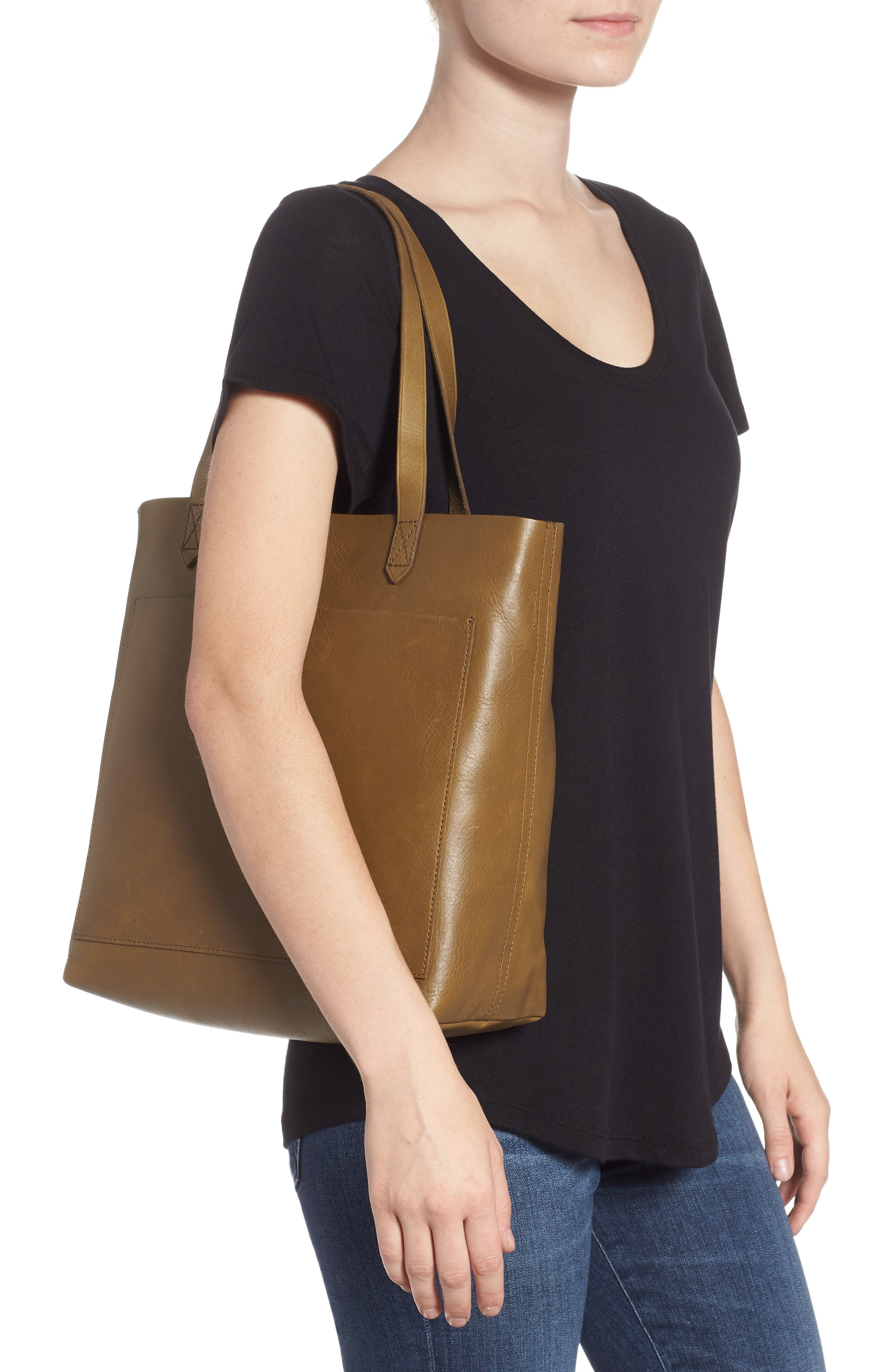 Medium Leather Transport Tote,                             Alternate thumbnail 21, color,