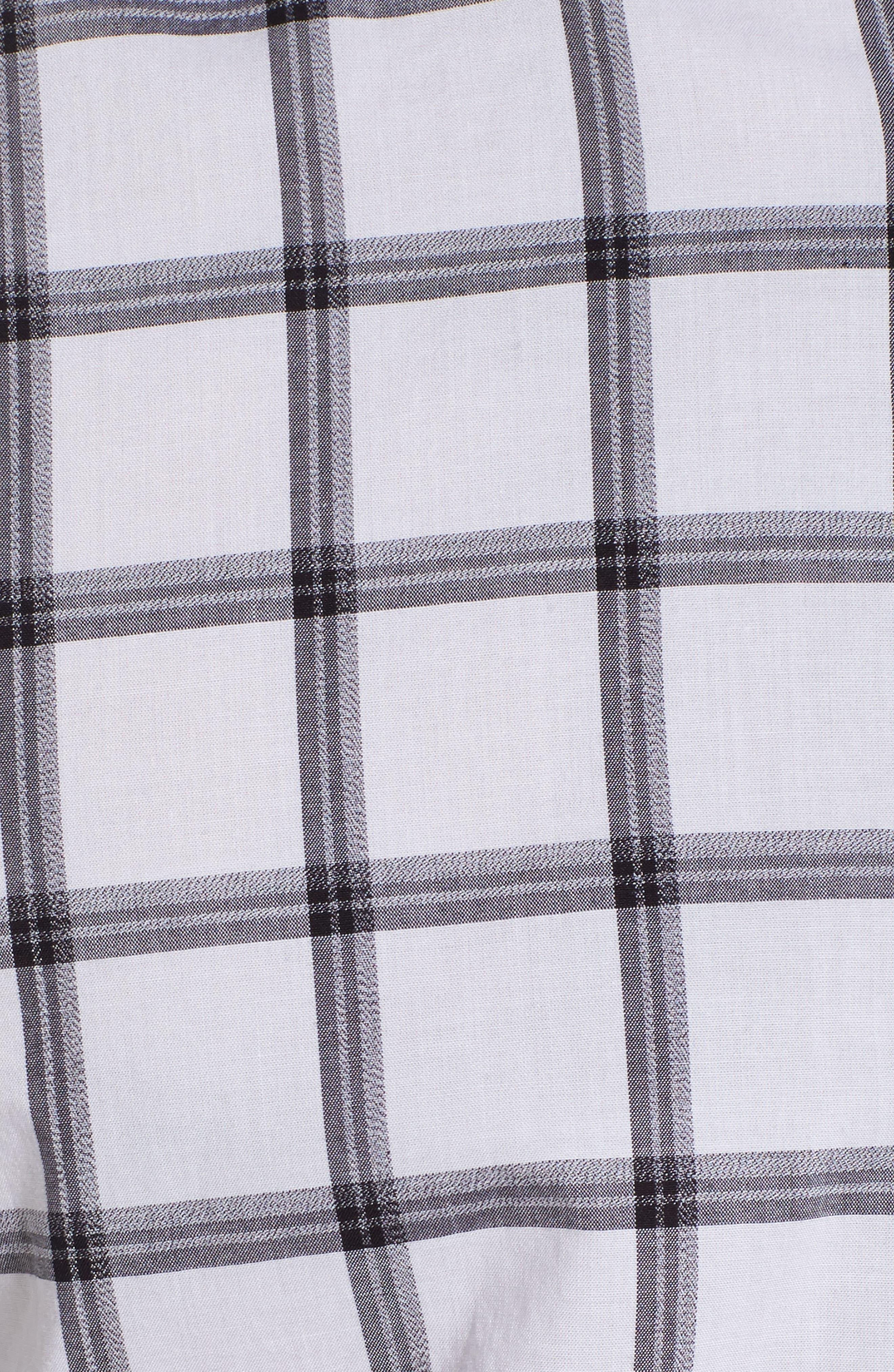 Reid Slim Fit Windowpane Sport Shirt,                             Alternate thumbnail 5, color,                             001