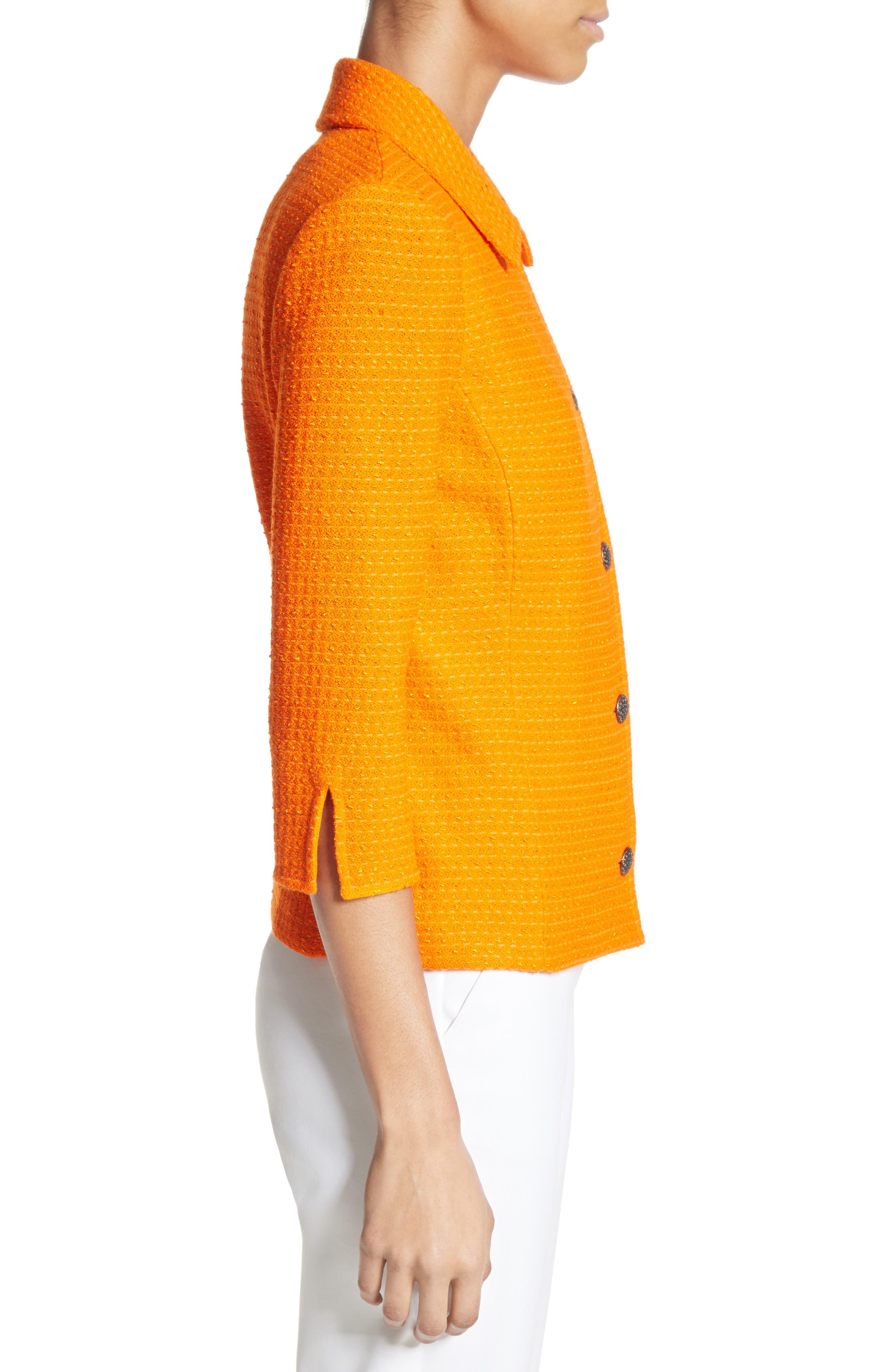 Ribbon Texture Knit Jacket,                             Alternate thumbnail 3, color,                             820