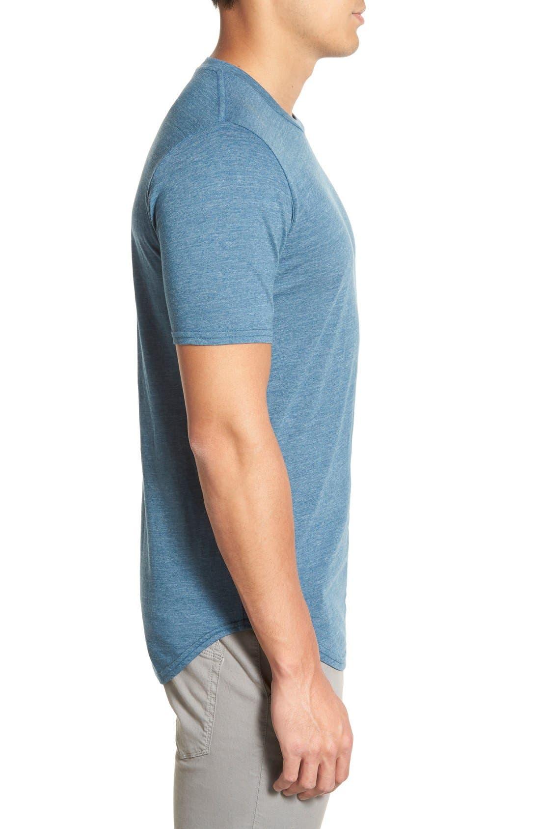 Scallop Triblend Crewneck T-Shirt,                             Alternate thumbnail 90, color,