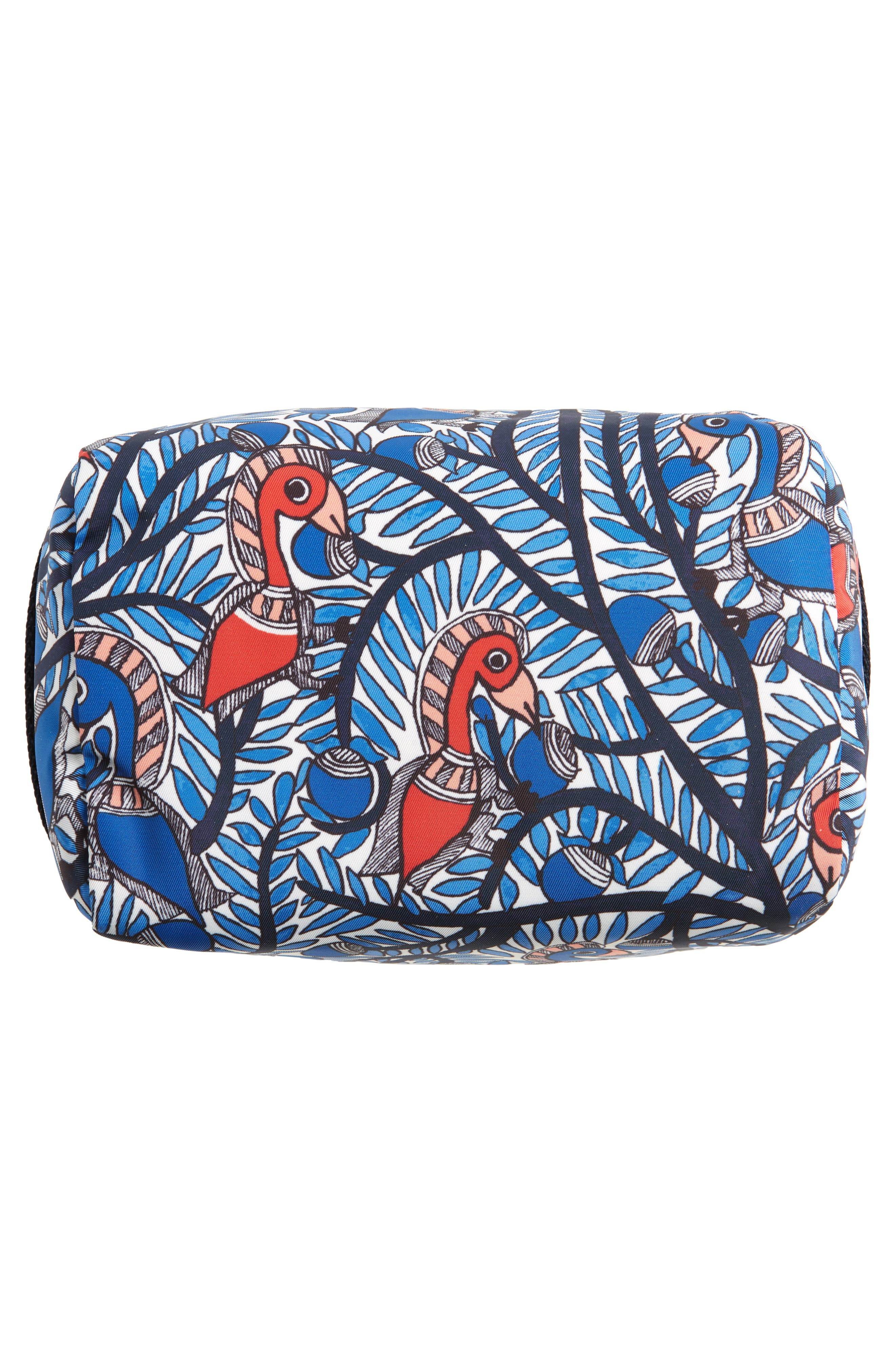 TORY BURCH,                             Medium Tilda Print Cosmetics Case,                             Alternate thumbnail 5, color,                             BLUE SOMETHING WILD
