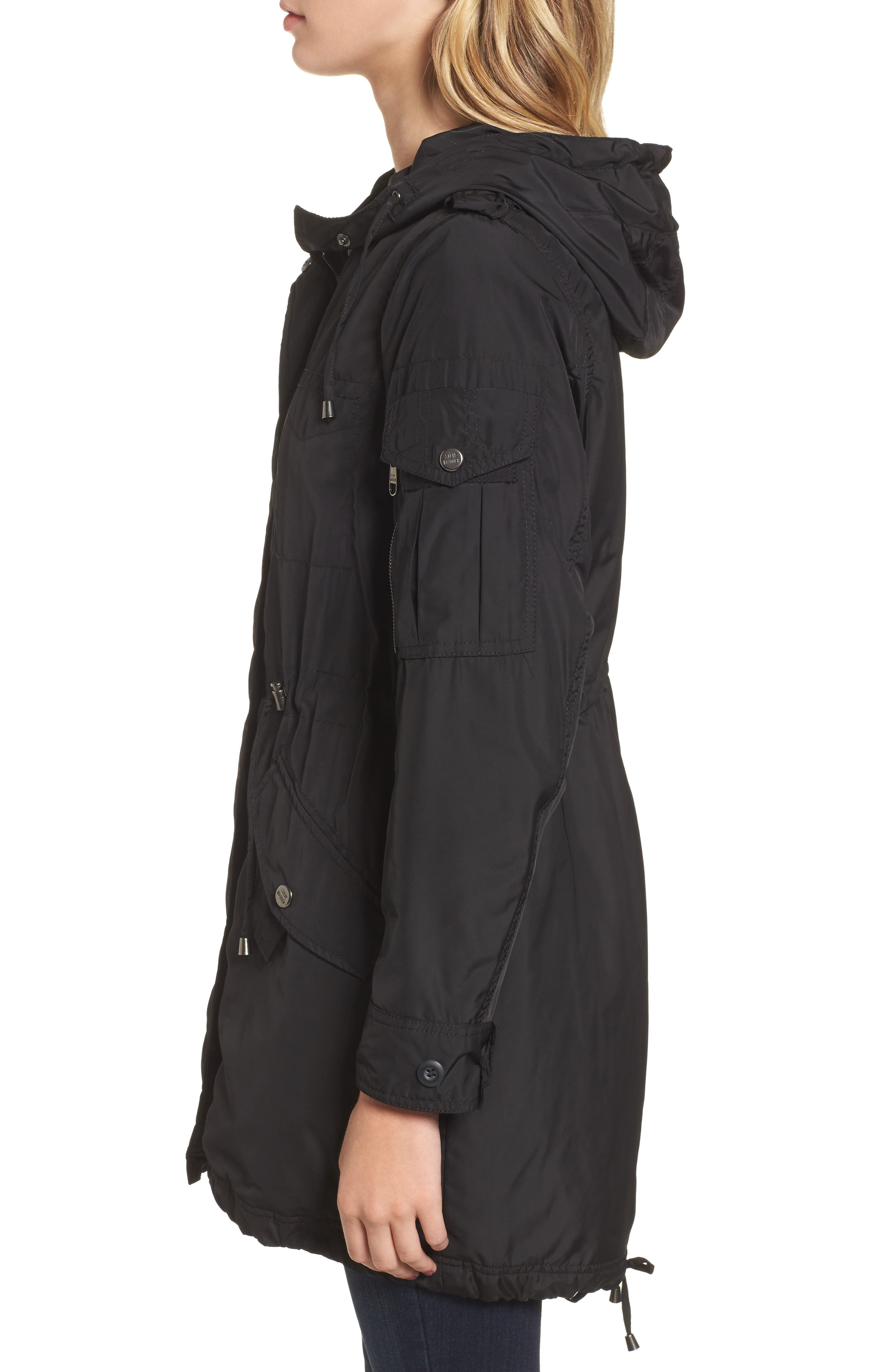 Hooded Water Repellent Anorak,                             Alternate thumbnail 3, color,                             001