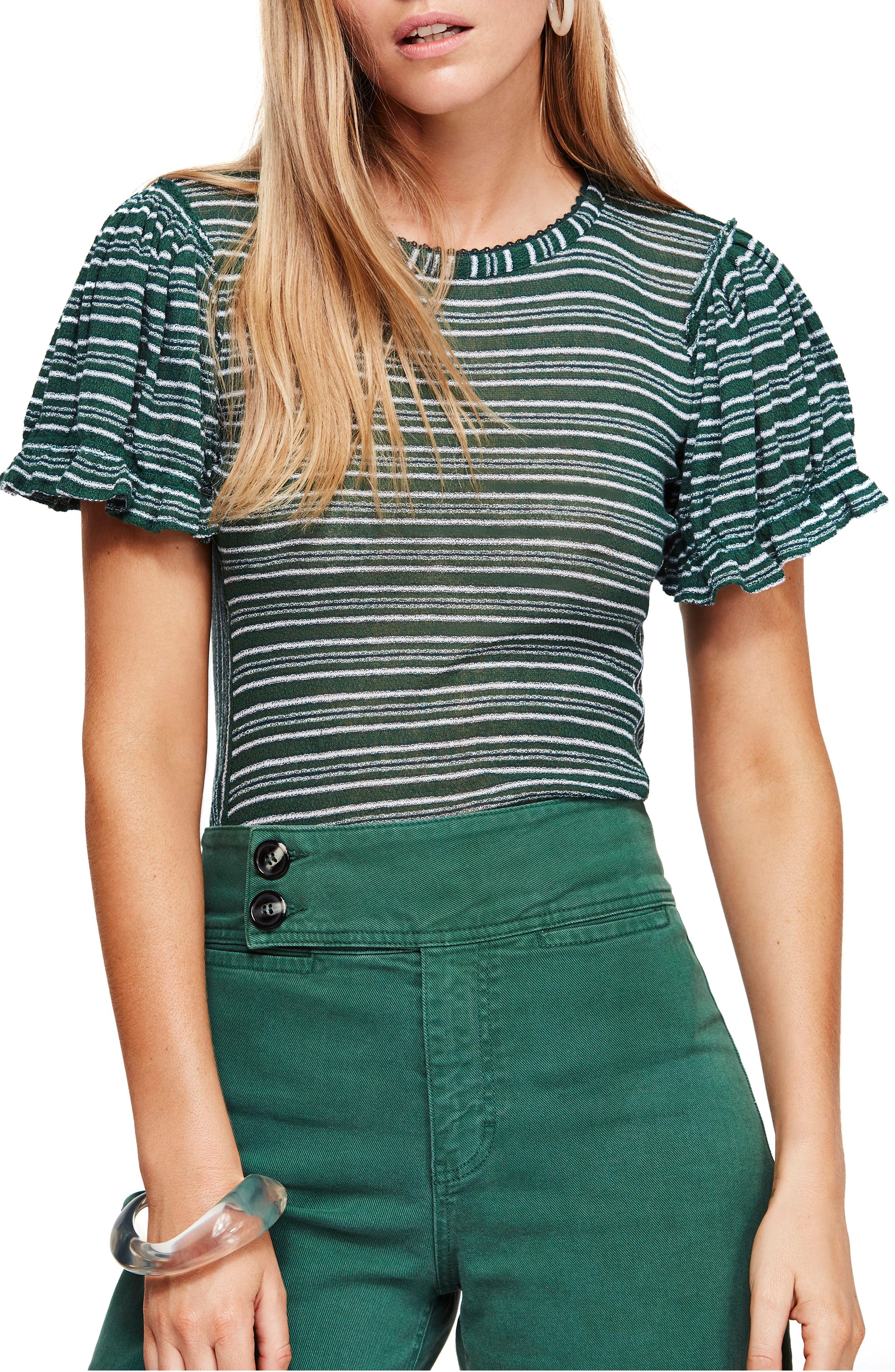 Free People Take One For The Team Tee, Blue/green