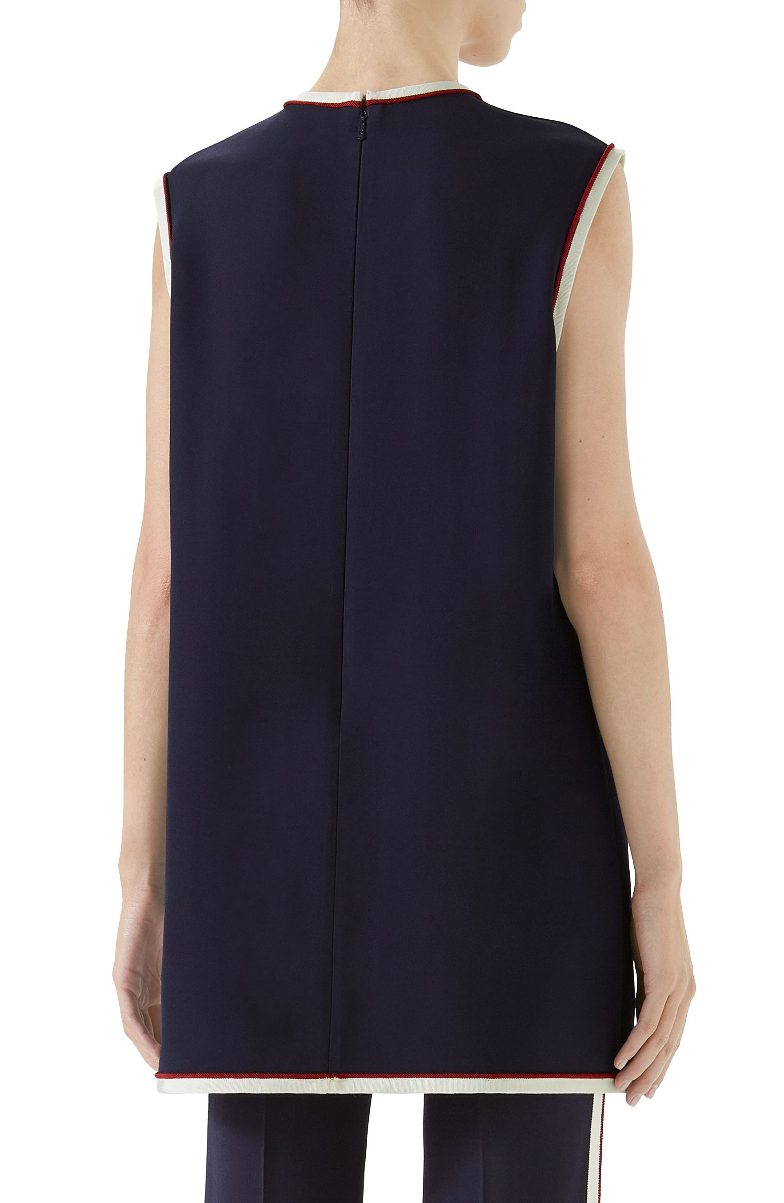Stretch Cady Tunic Top,                             Alternate thumbnail 2, color,                             BLUE