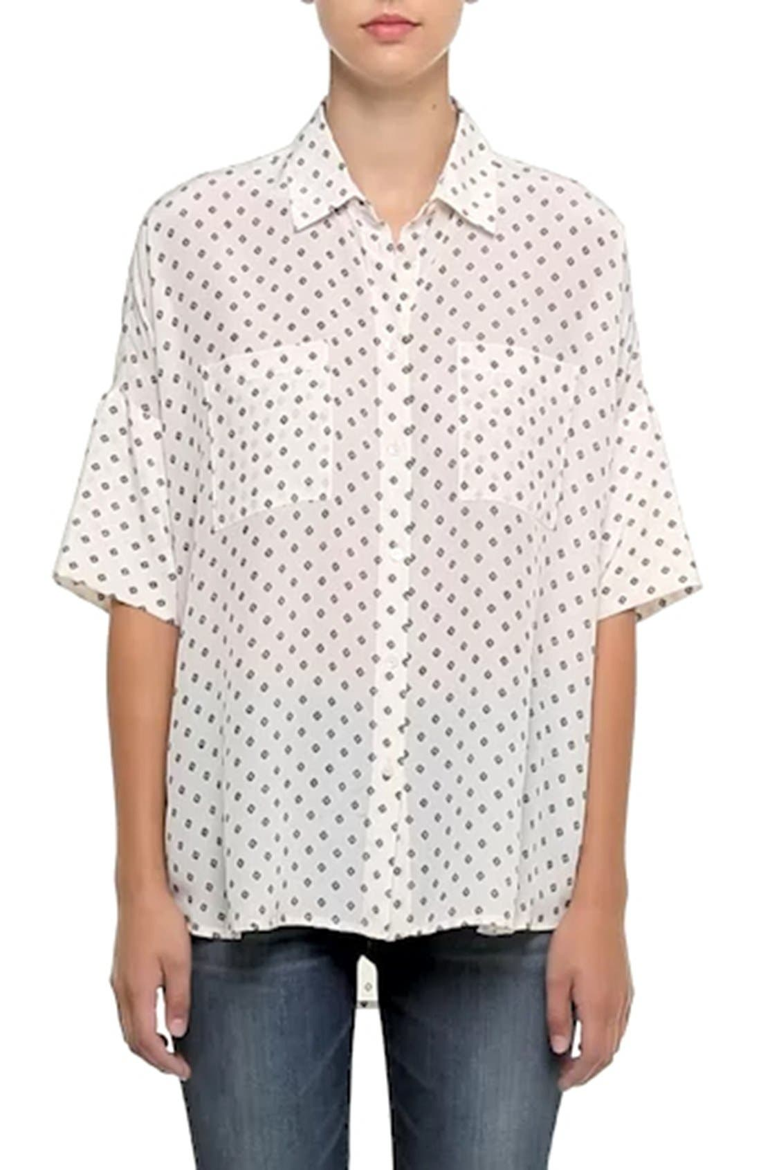 MADEWELL,                             'Foulard Dot' Silk Courier Shirt,                             Alternate thumbnail 2, color,                             900