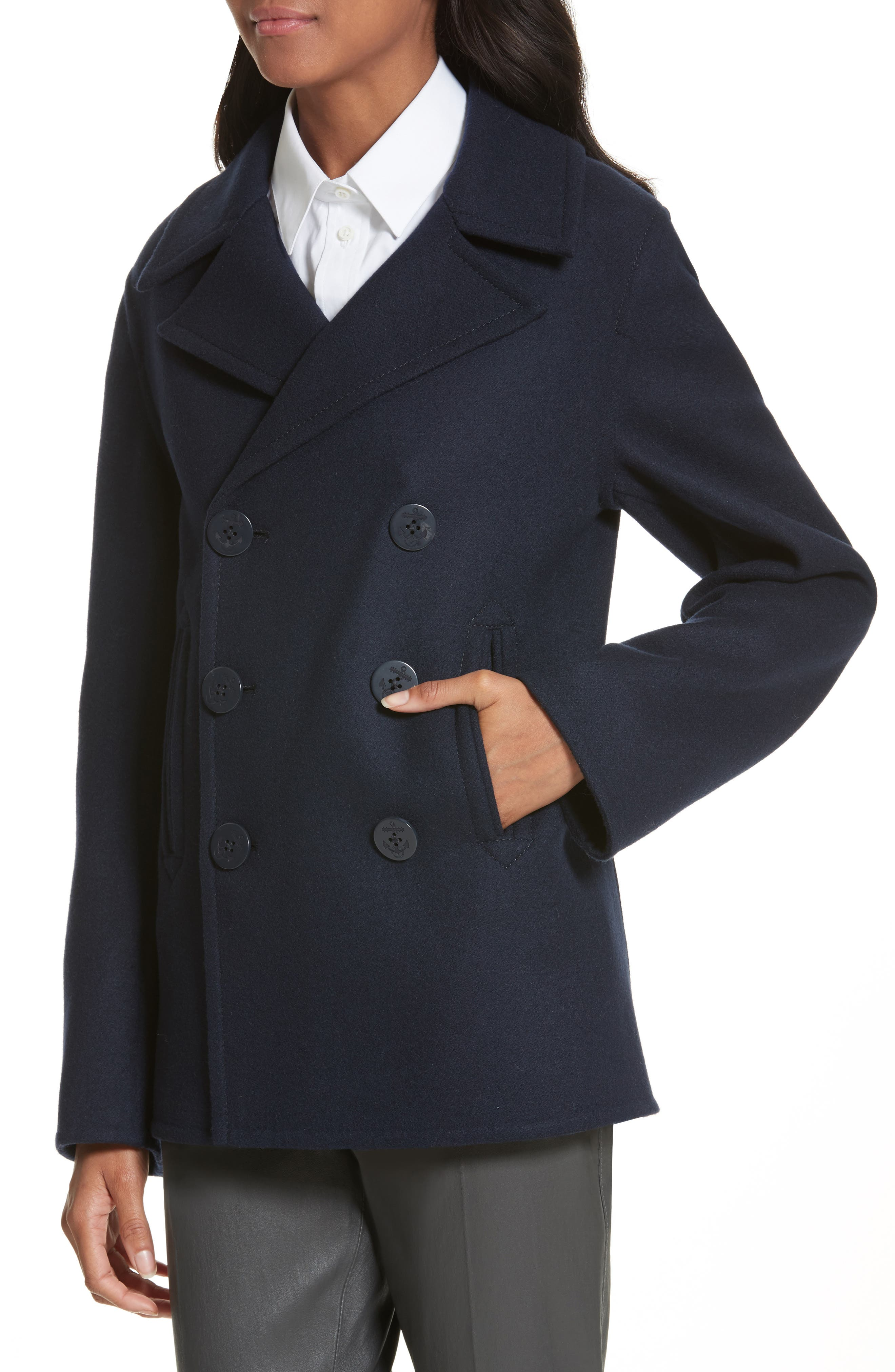 Hector Double-Breasted Peacoat,                             Alternate thumbnail 4, color,                             410