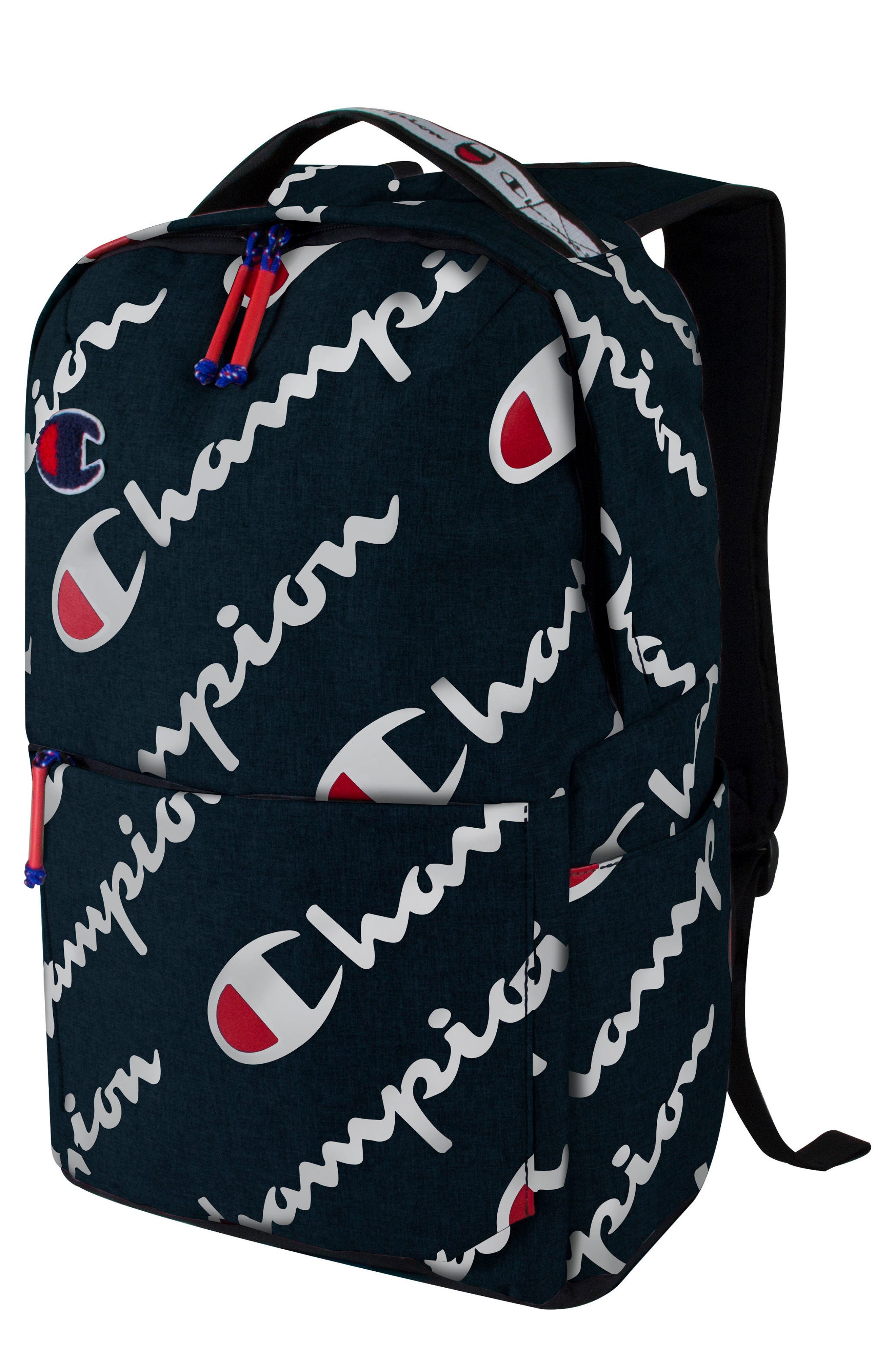 Advocate Logo Backpack,                             Main thumbnail 1, color,                             NAVY HEATHER