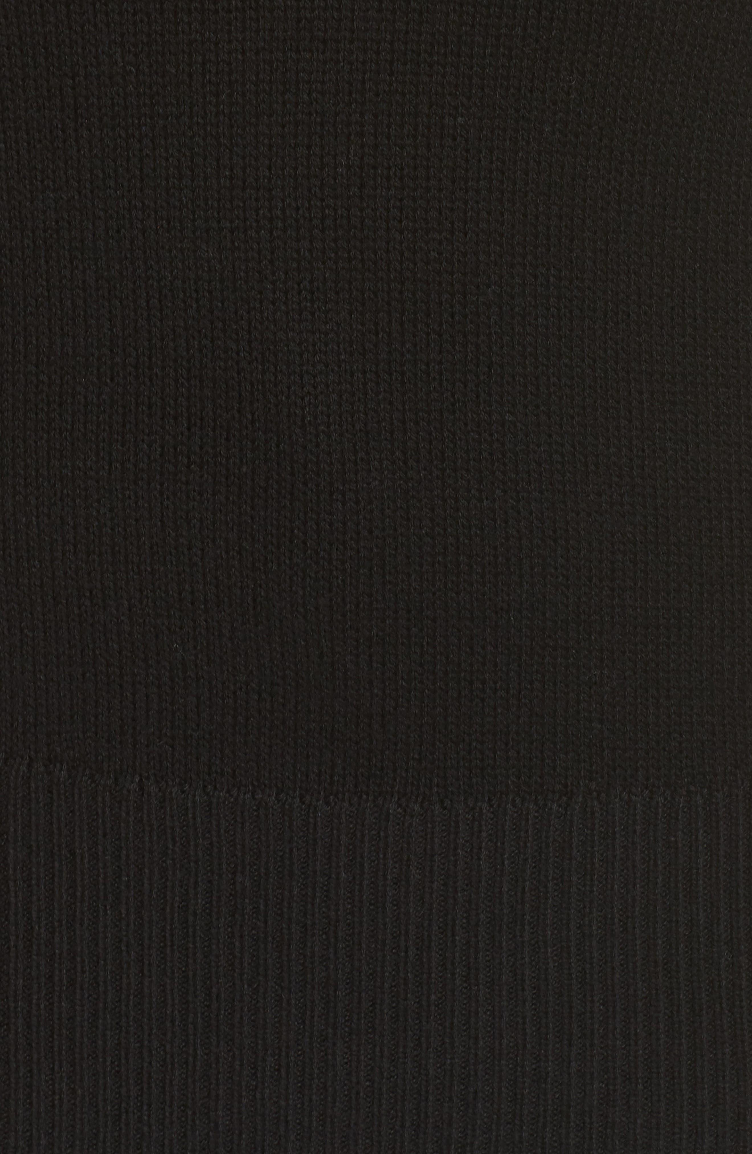 Split Neck Sweater,                             Alternate thumbnail 5, color,                             BLACK