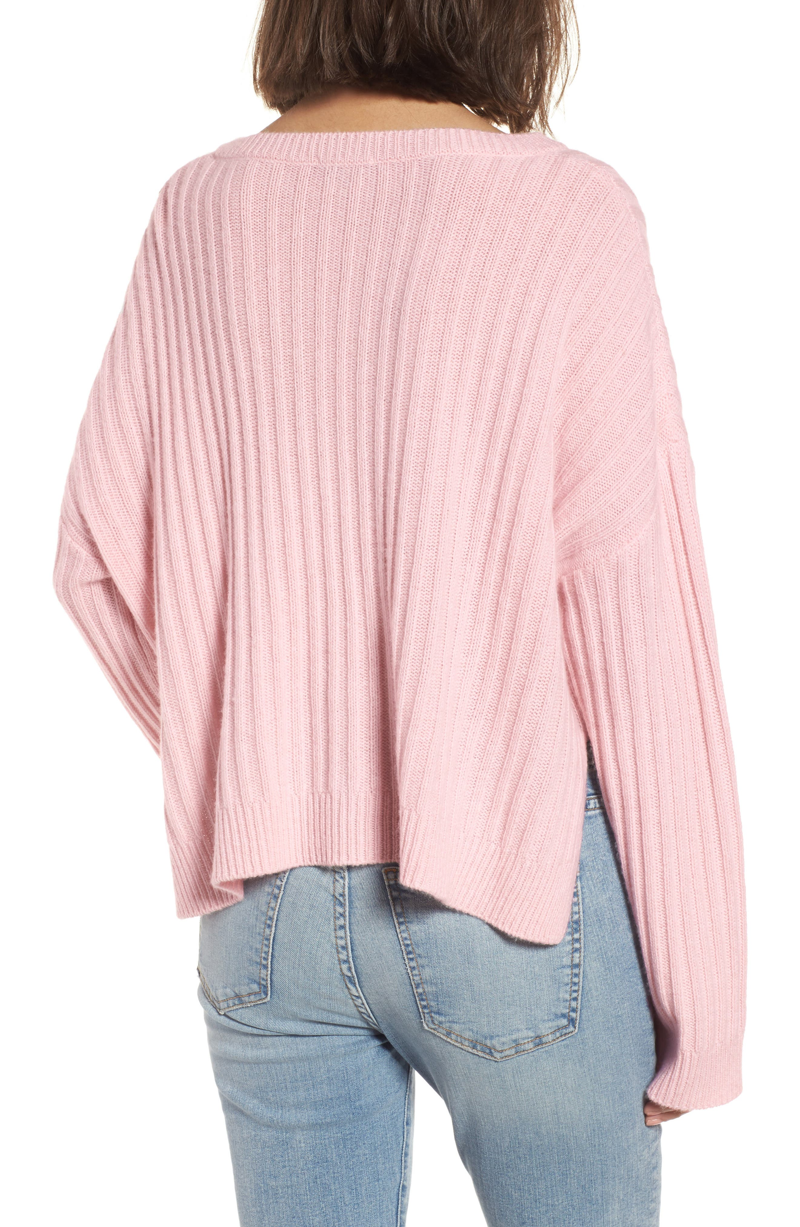 Joelle Rib Wool & Cashmere Sweater,                             Alternate thumbnail 2, color,                             673