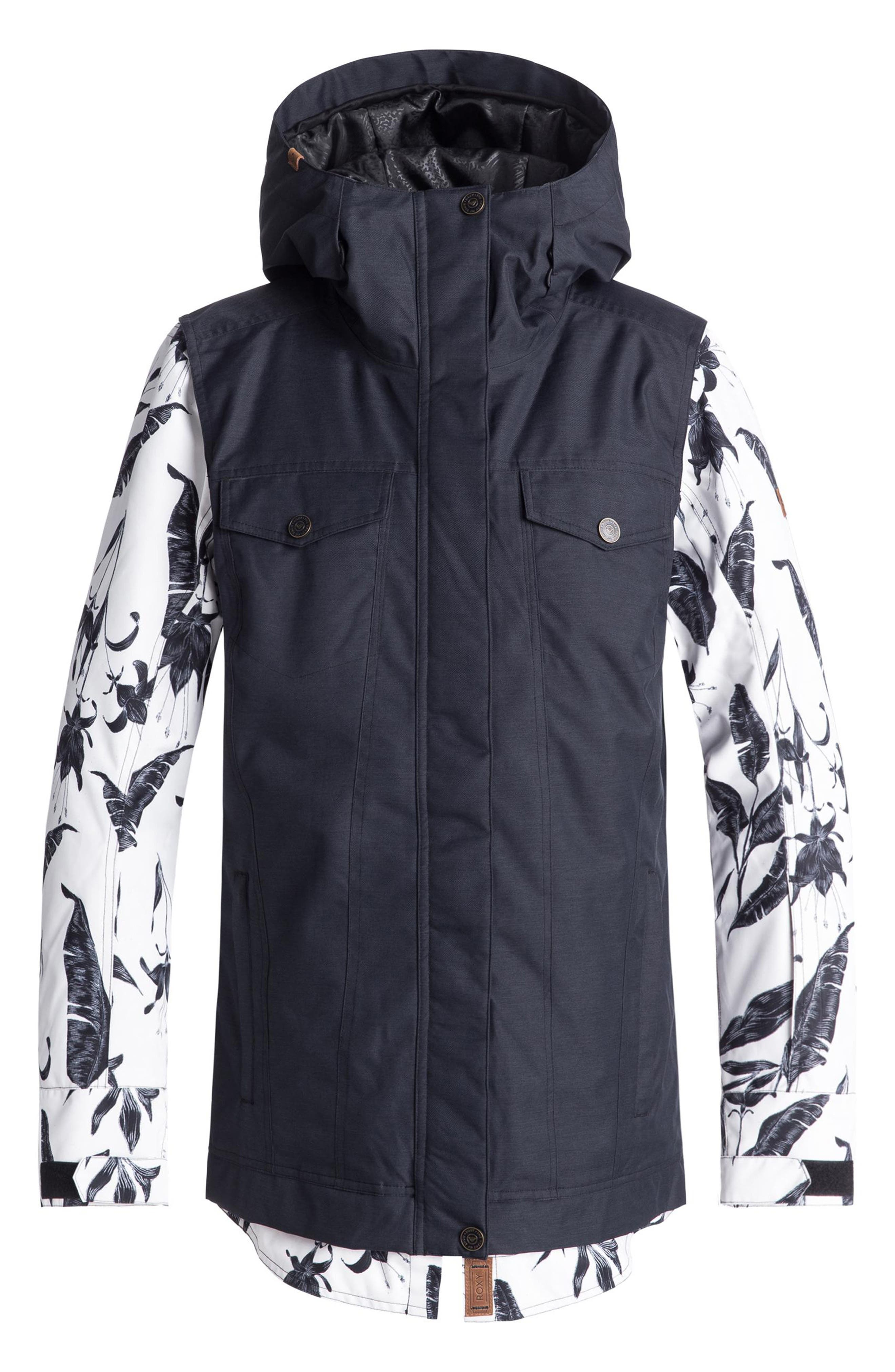 Ceder Snow Jacket,                         Main,                         color, EGRET/ LOVE LETTER