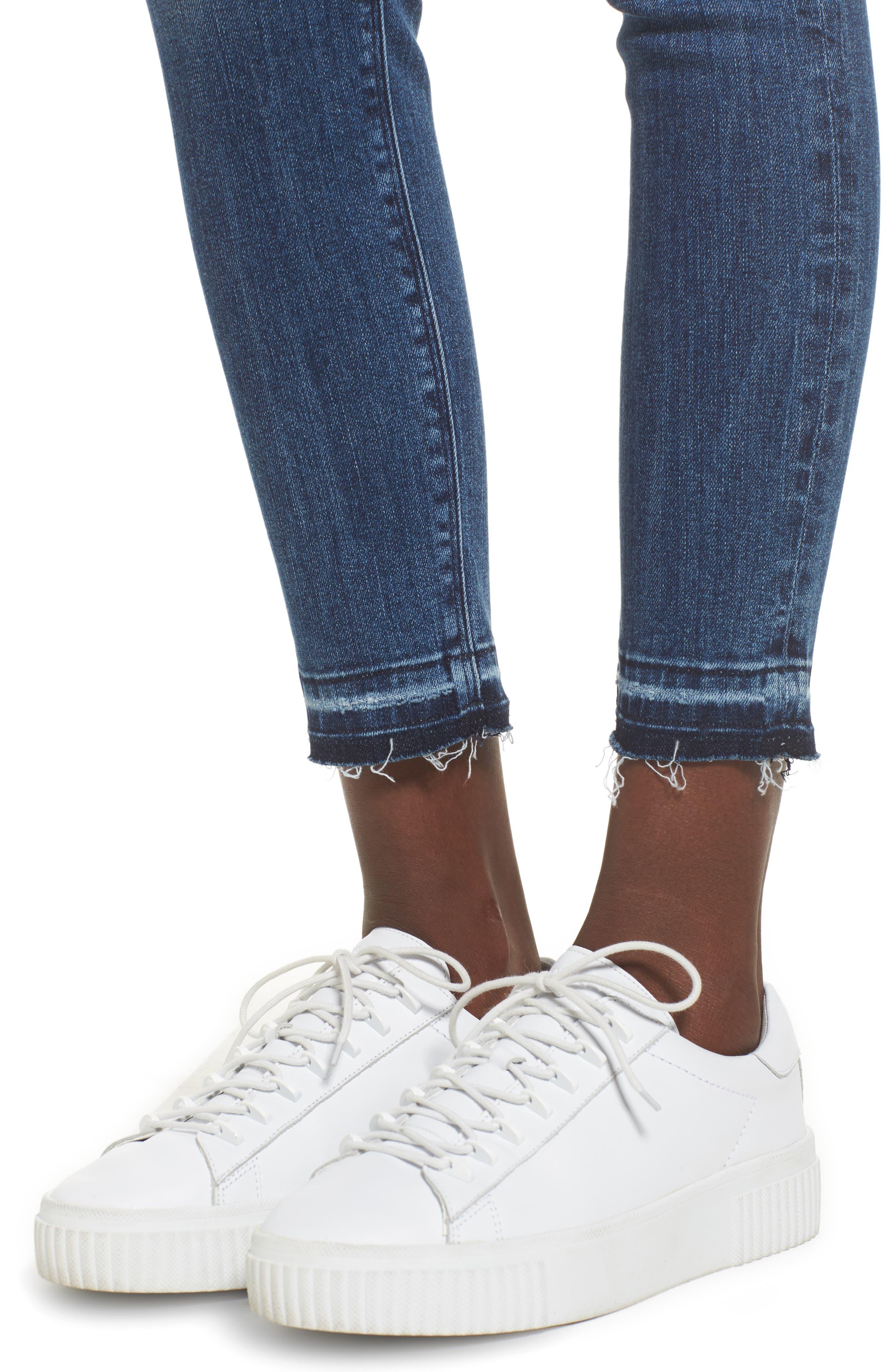 Nico Released Hem Ankle Skinny Jeans,                             Alternate thumbnail 4, color,                             421