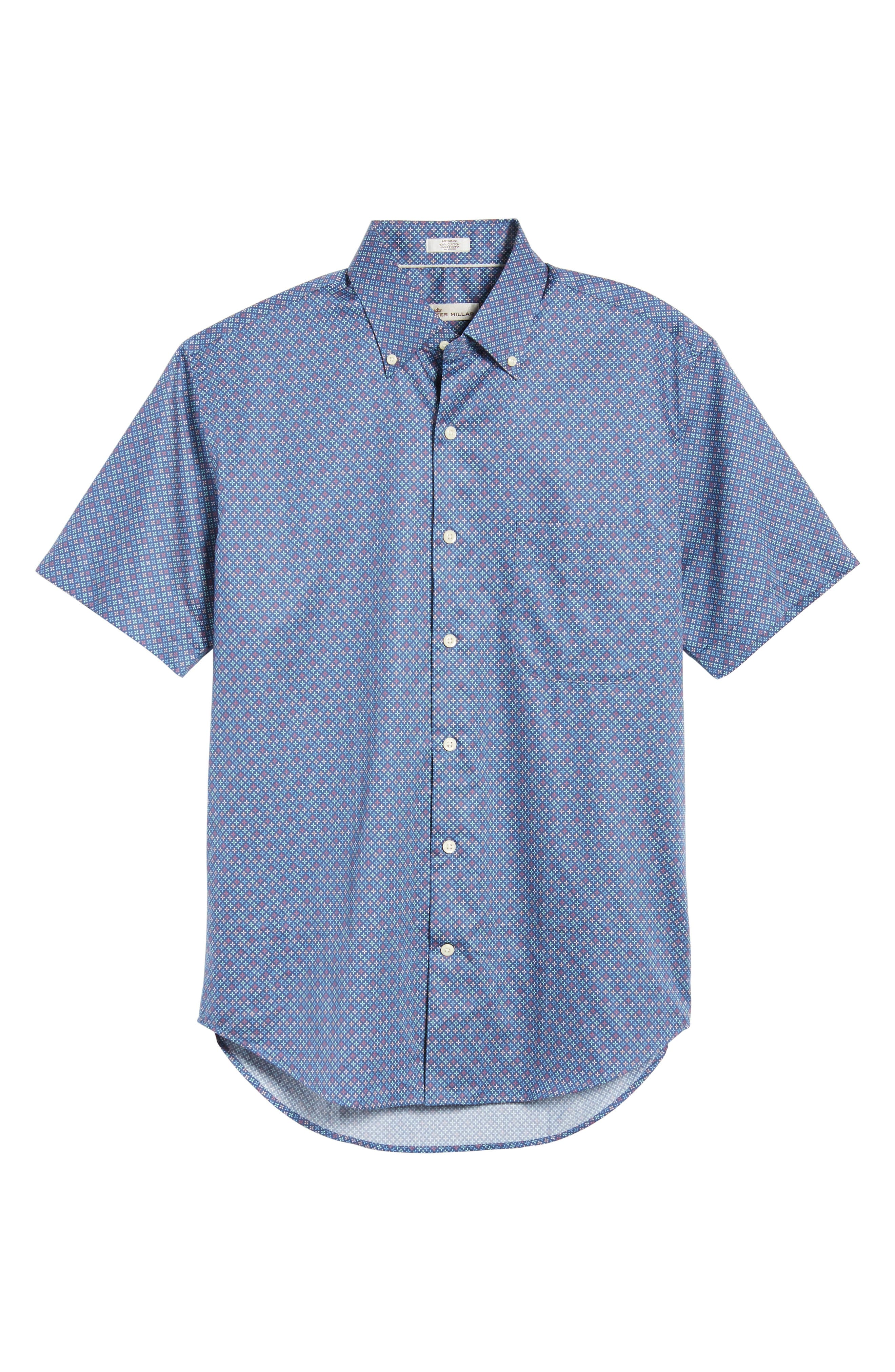 All Aces Regular Fit Sport Shirt,                             Alternate thumbnail 6, color,                             YANKEE BLUE
