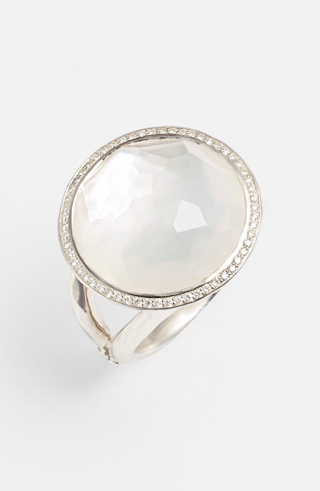 IPPOLITA,                             'Stella - Lollipop' Cocktail Ring,                             Main thumbnail 1, color,                             SILVER/ MOTHER OF PEARL