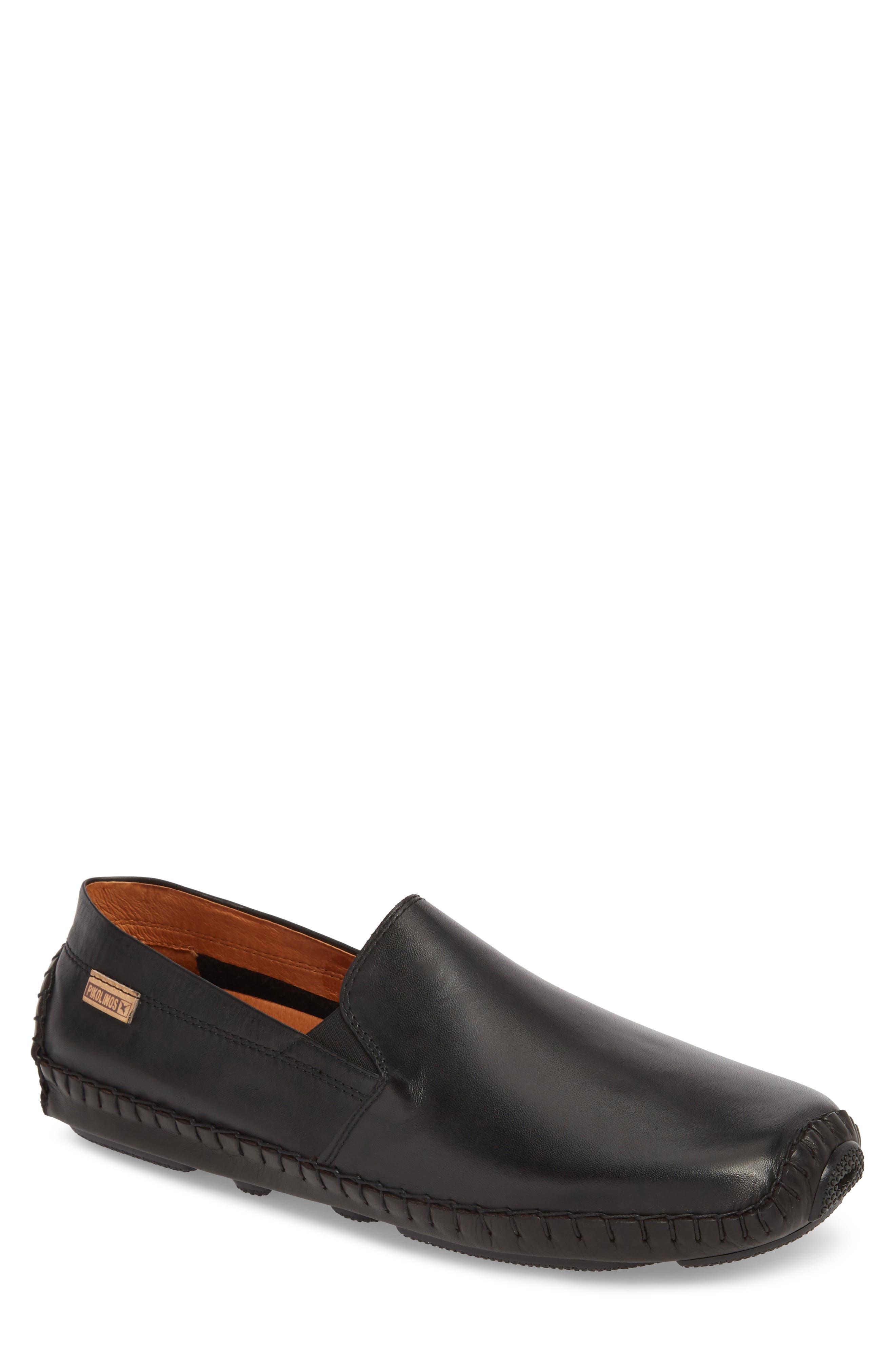 Jerez Driving Shoe,                             Main thumbnail 1, color,                             BLACK LEATHER
