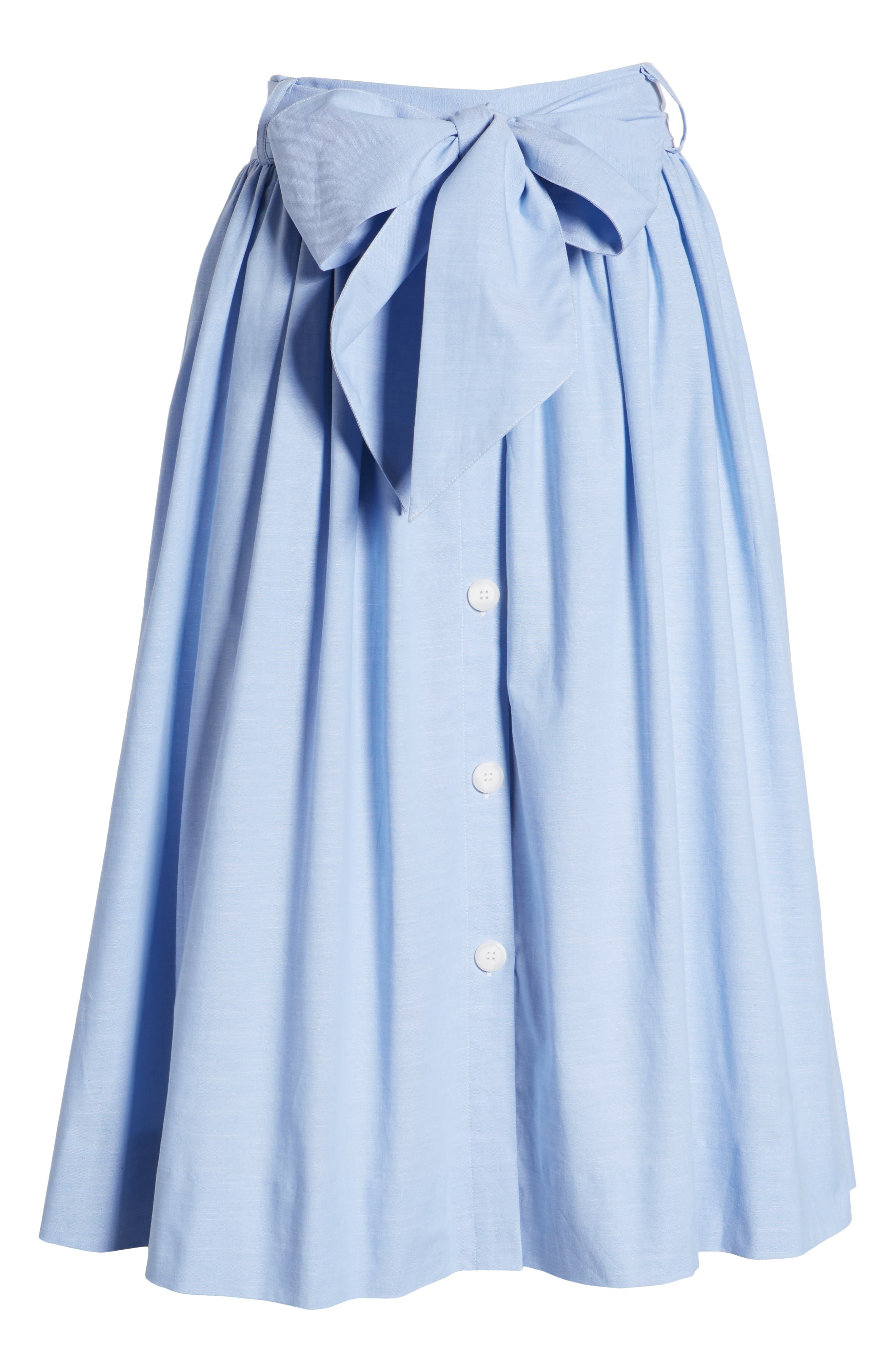 1901,                             Bow Tie Chambray Skirt,                             Alternate thumbnail 7, color,                             420