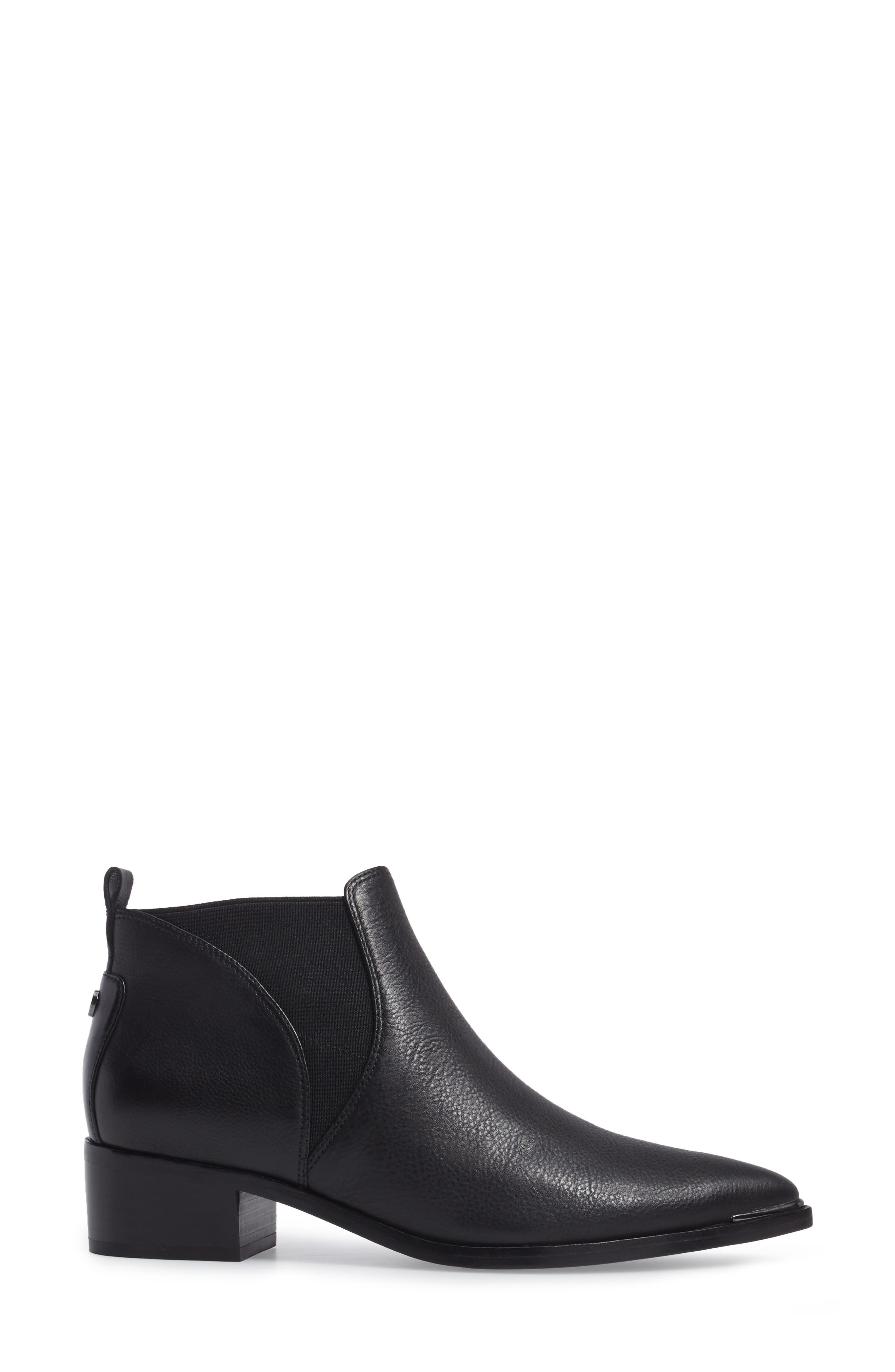 Yellin Pointy Toe Chelsea Boot,                             Alternate thumbnail 3, color,                             001