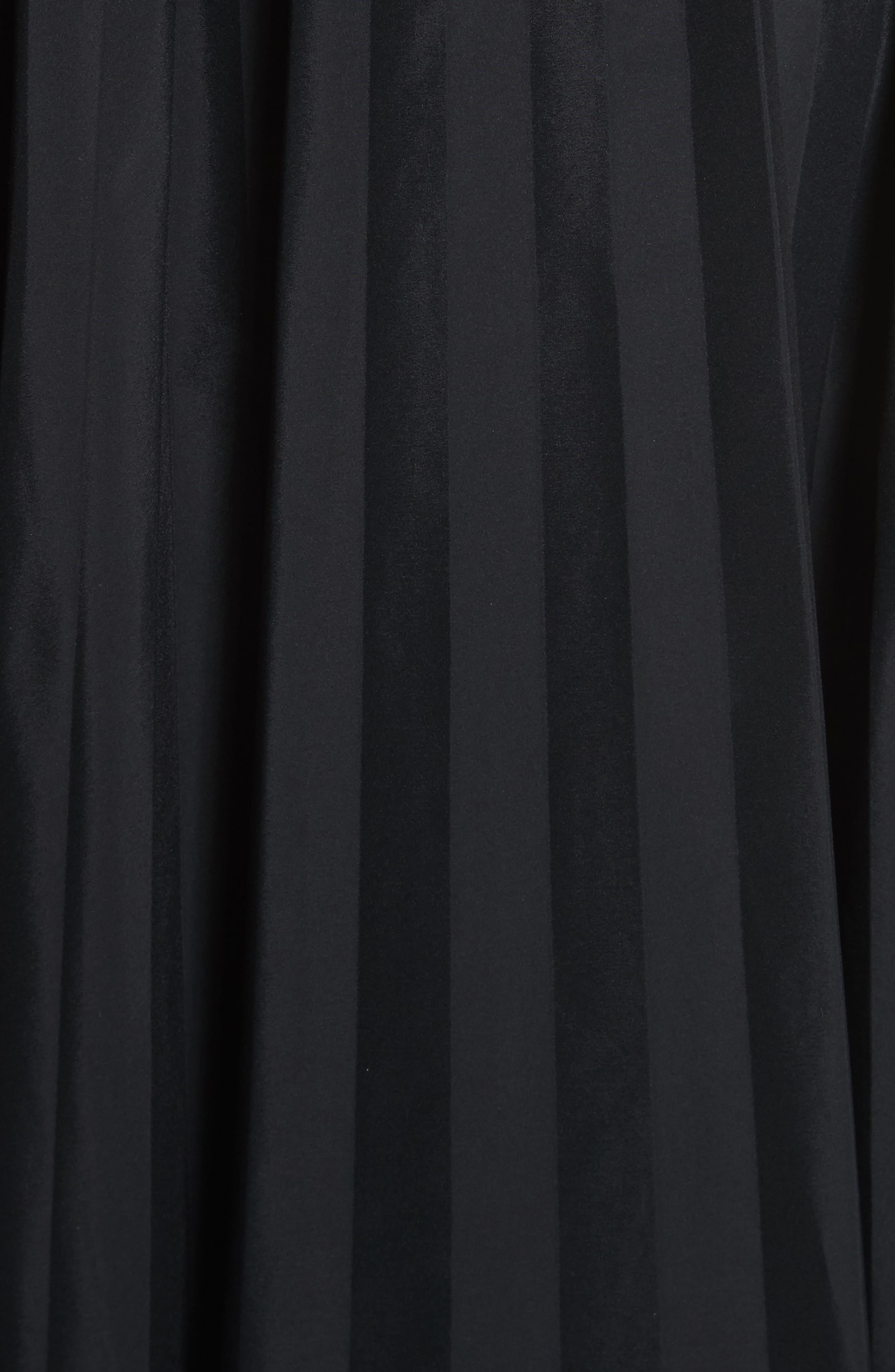Pleated Midi Skirt,                             Alternate thumbnail 5, color,                             001