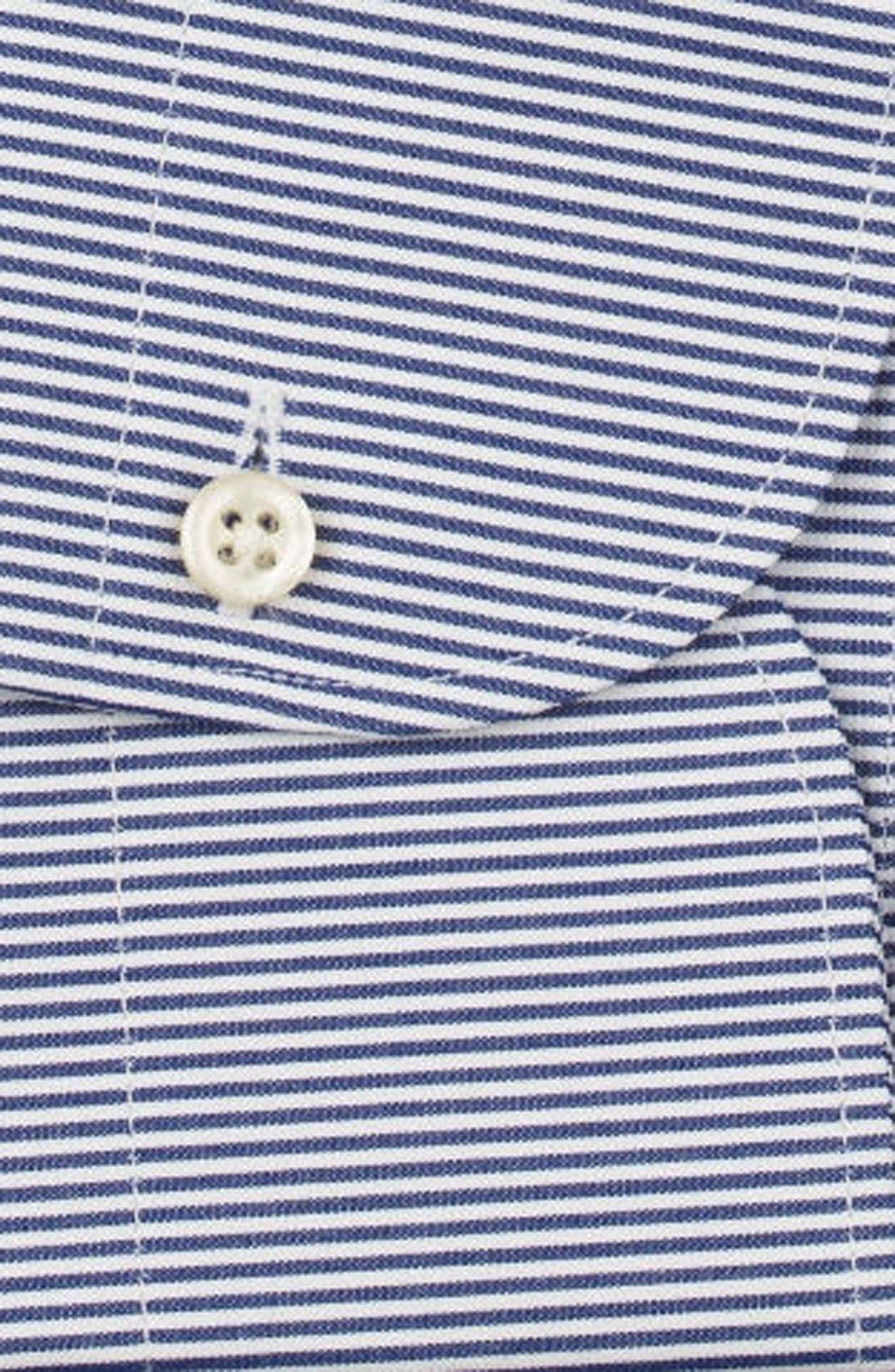 Regular Fit Stripe Dress Shirt,                             Alternate thumbnail 6, color,                             400
