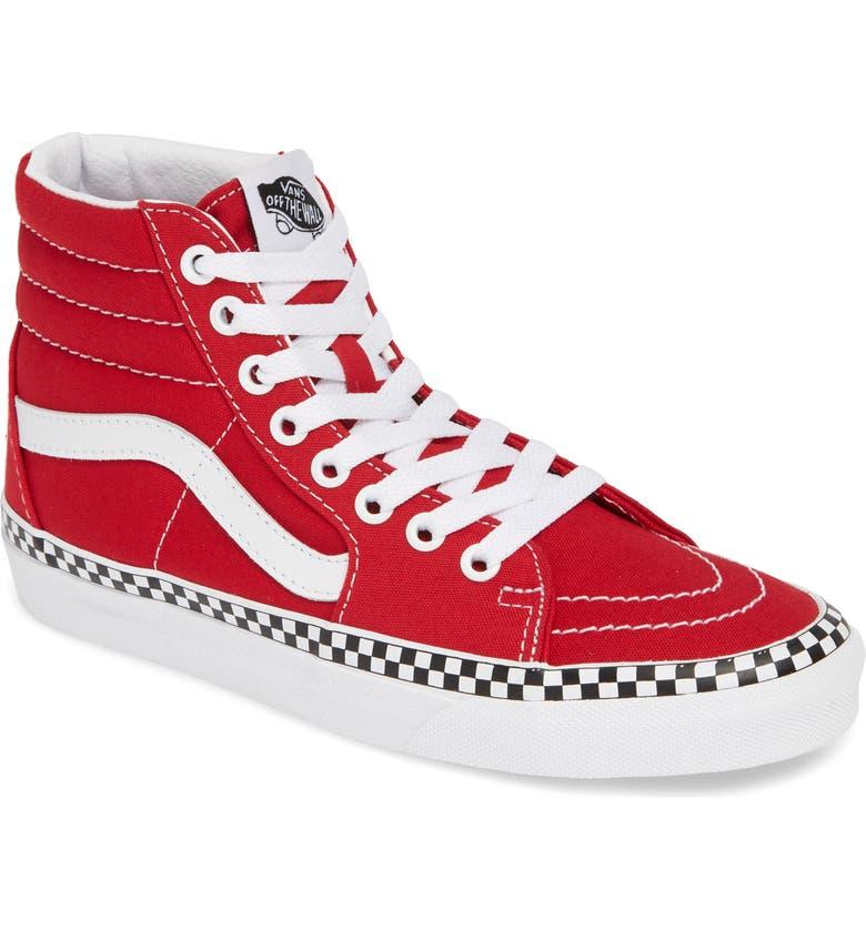 Vans Sk8-Hi Check Foxing Sneaker (Women)  5d0596625