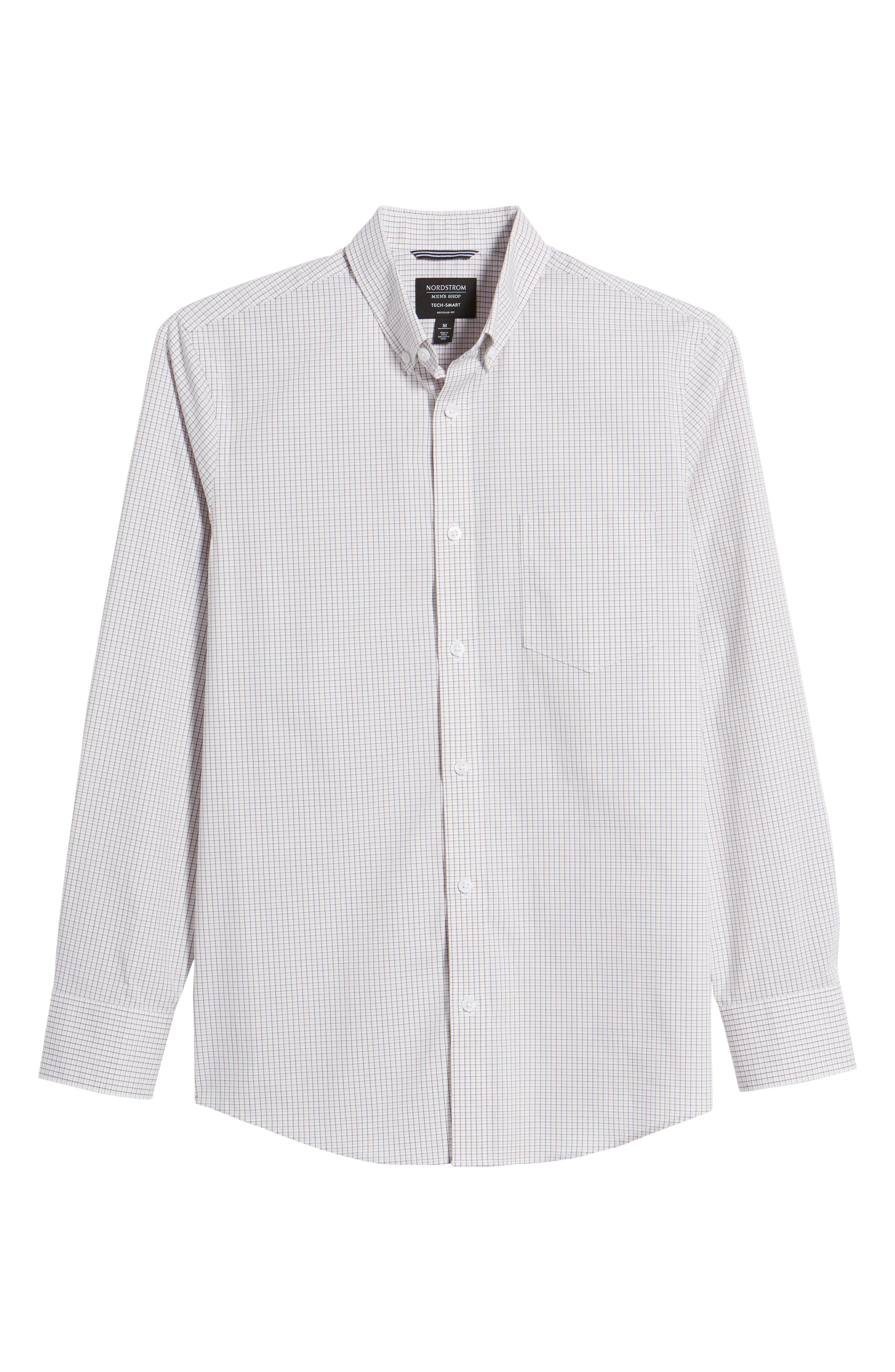 Tech-Smart Regular Fit Check Sport Shirt,                             Alternate thumbnail 6, color,
