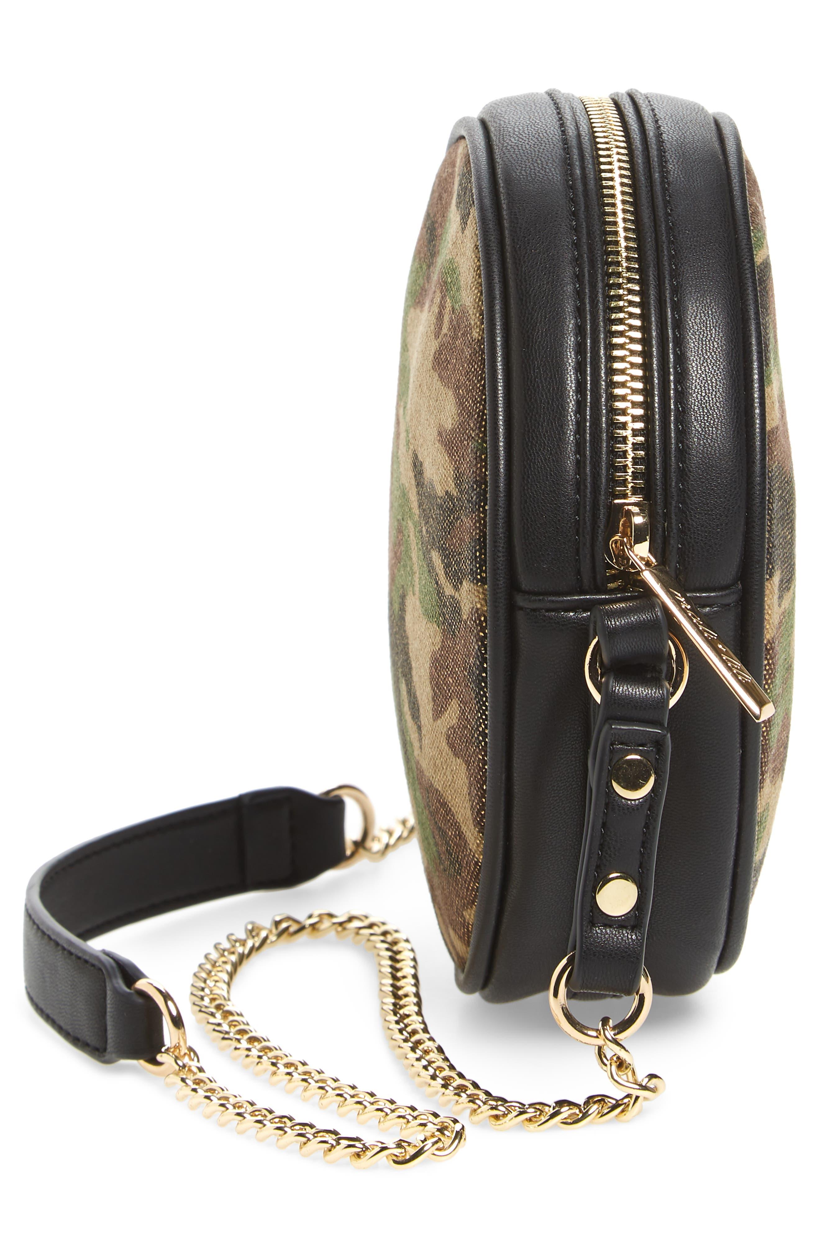 Mali + Lili Camouflage Vegan Leather Canteen Crossbody Bag,                             Alternate thumbnail 5, color,                             340