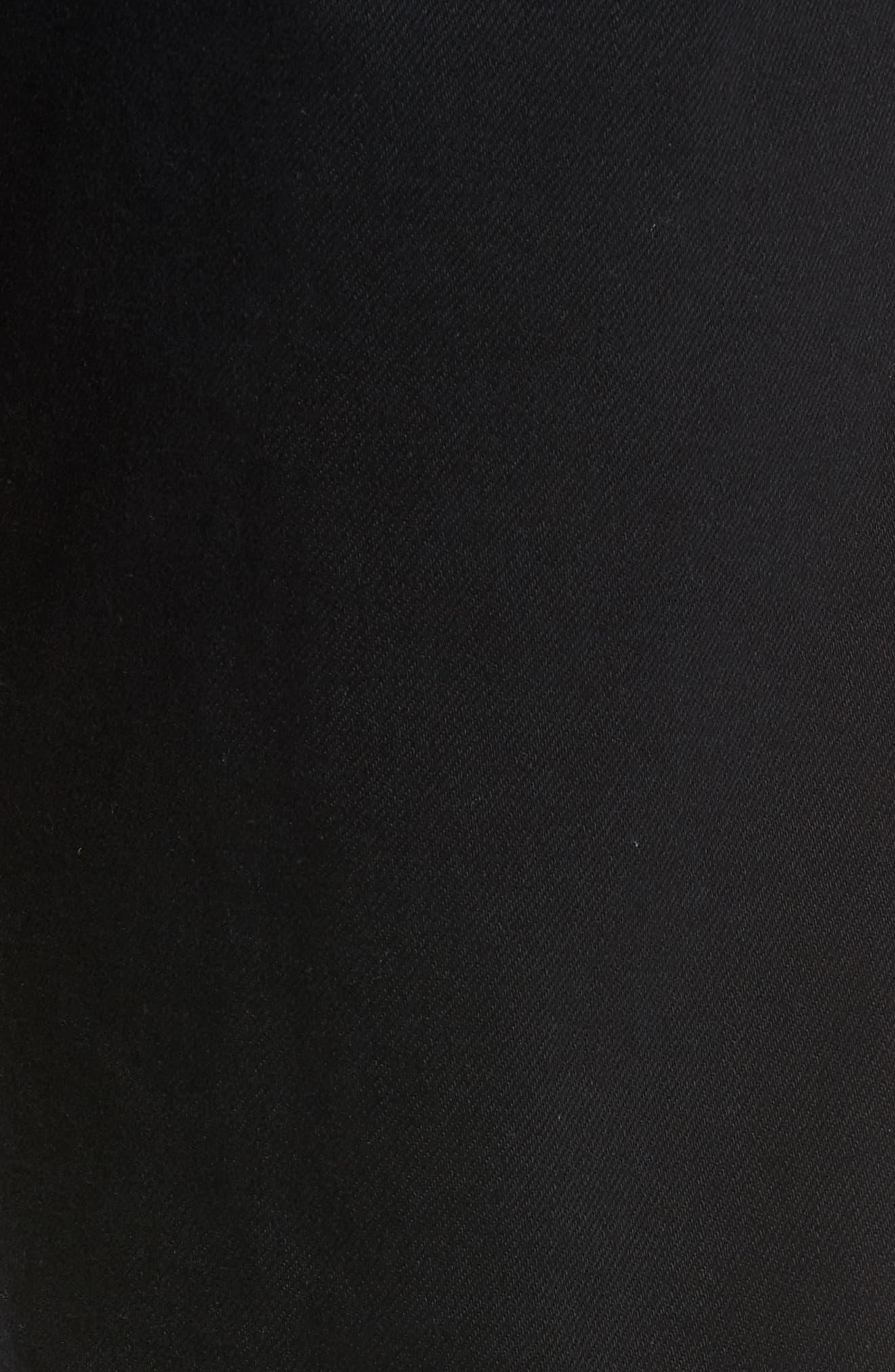 Zach Straight Leg Jeans,                             Alternate thumbnail 5, color,                             BLACK WILLIAMSBURG