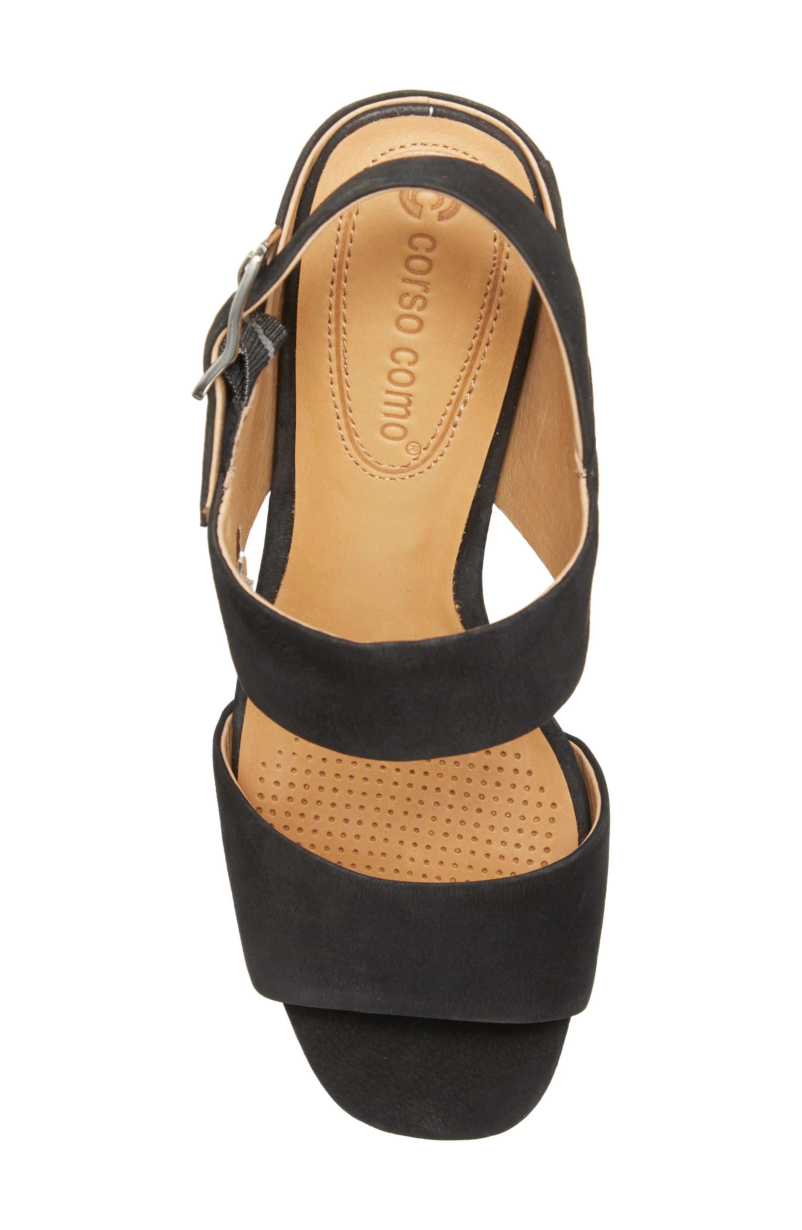CC CORSO COMO<SUP>®</SUP>,                             CC Corso Como Prysm Block Heel Sandal,                             Alternate thumbnail 5, color,                             BLACK LEATHER