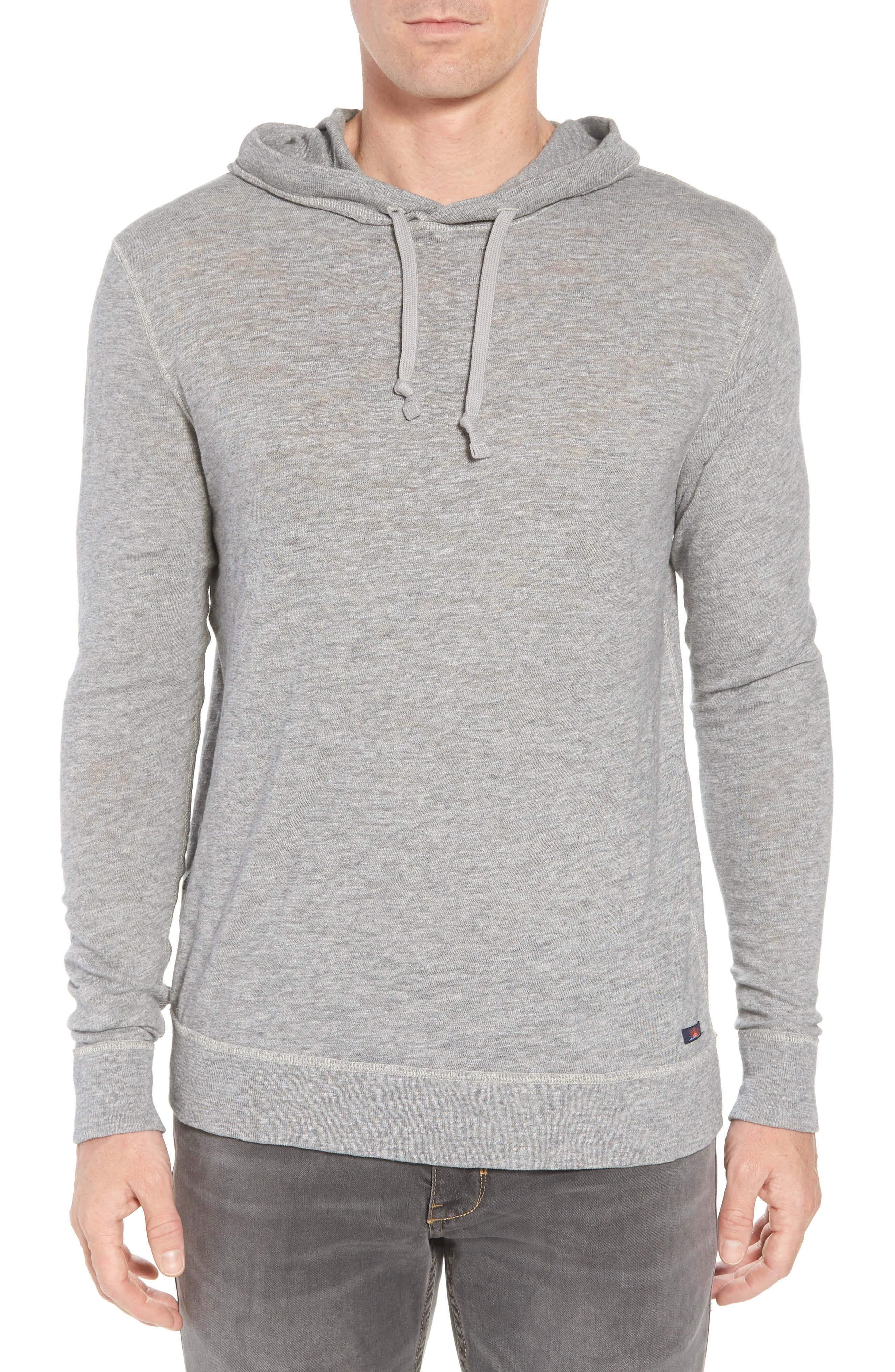 Slub Cotton Hoodie,                             Main thumbnail 1, color,                             HEATHER GREY