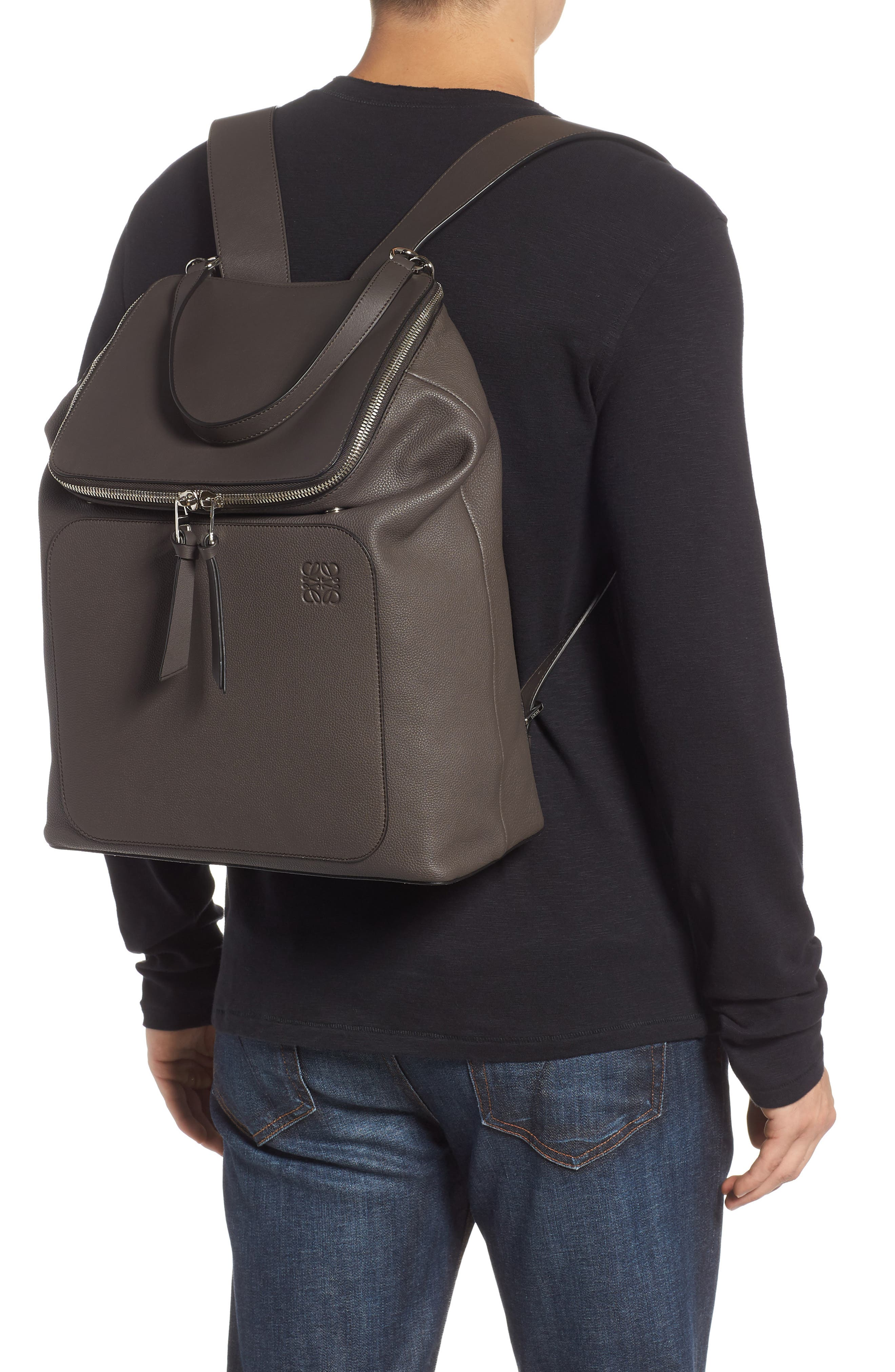 Goya Plaid Calfskin Leather Backpack,                             Alternate thumbnail 2, color,                             022
