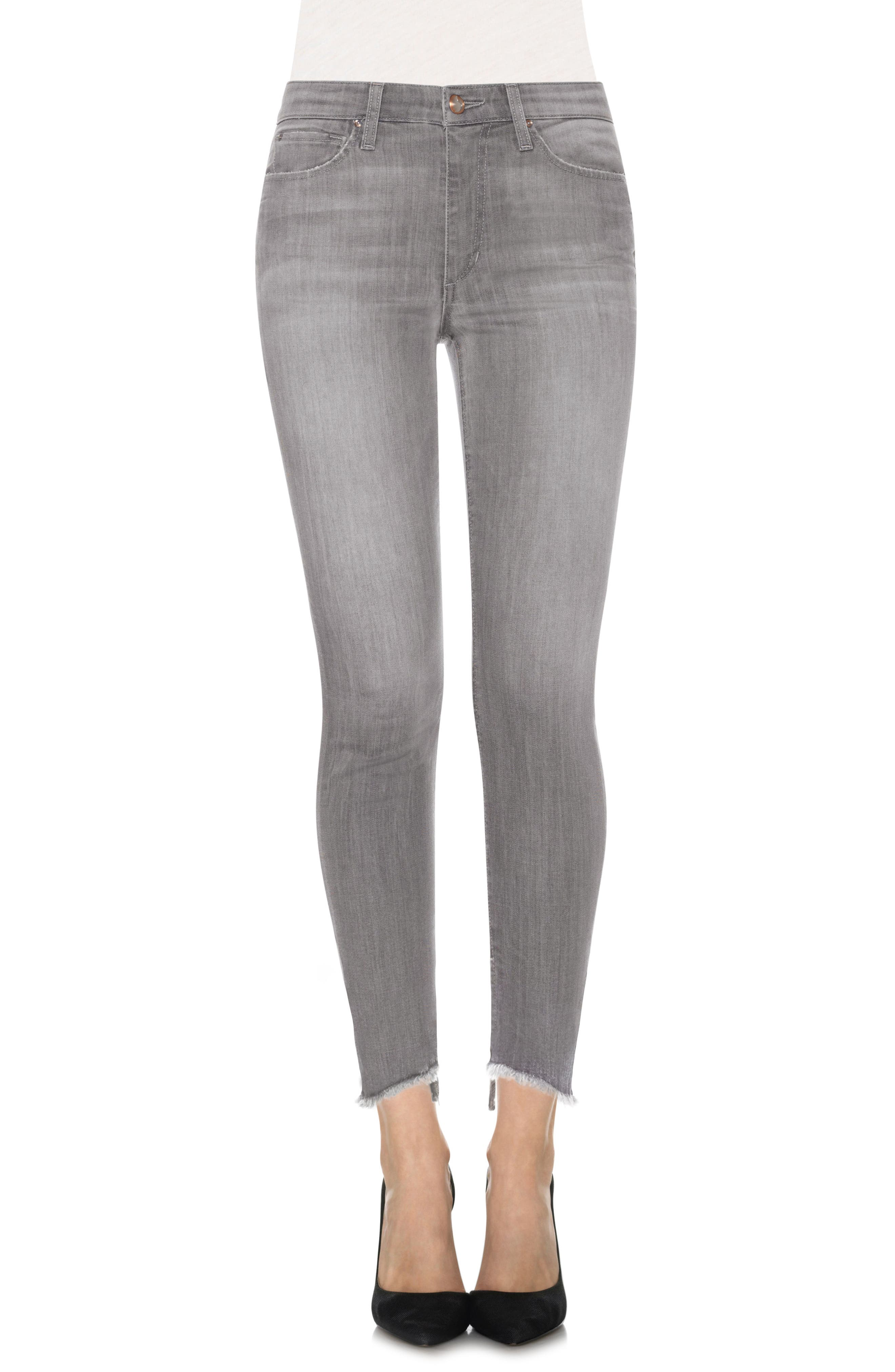 Cool Off - Charlie Step-Up Hem High Rise Skinny Jeans,                             Main thumbnail 1, color,                             050