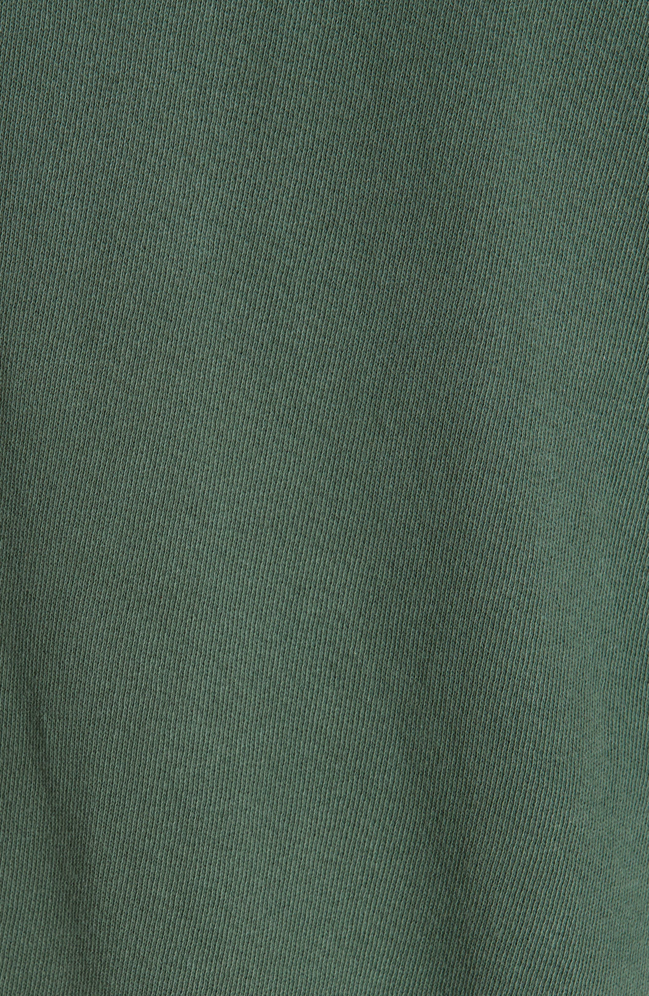 The Bishop Sleeve Sweatshirt,                             Alternate thumbnail 5, color,                             PINE