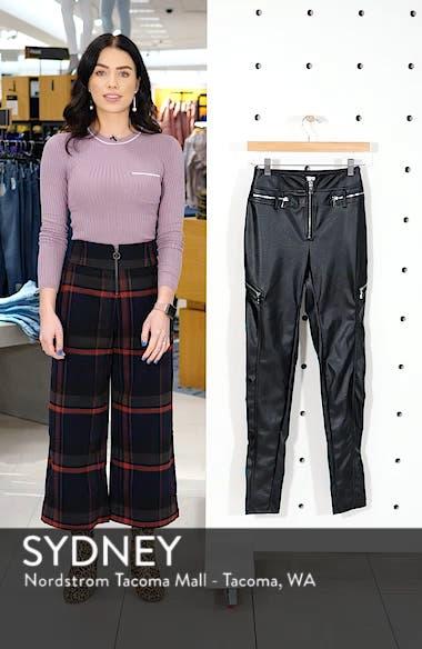Lennon Zip Detail Faux Leather Pants, sales video thumbnail